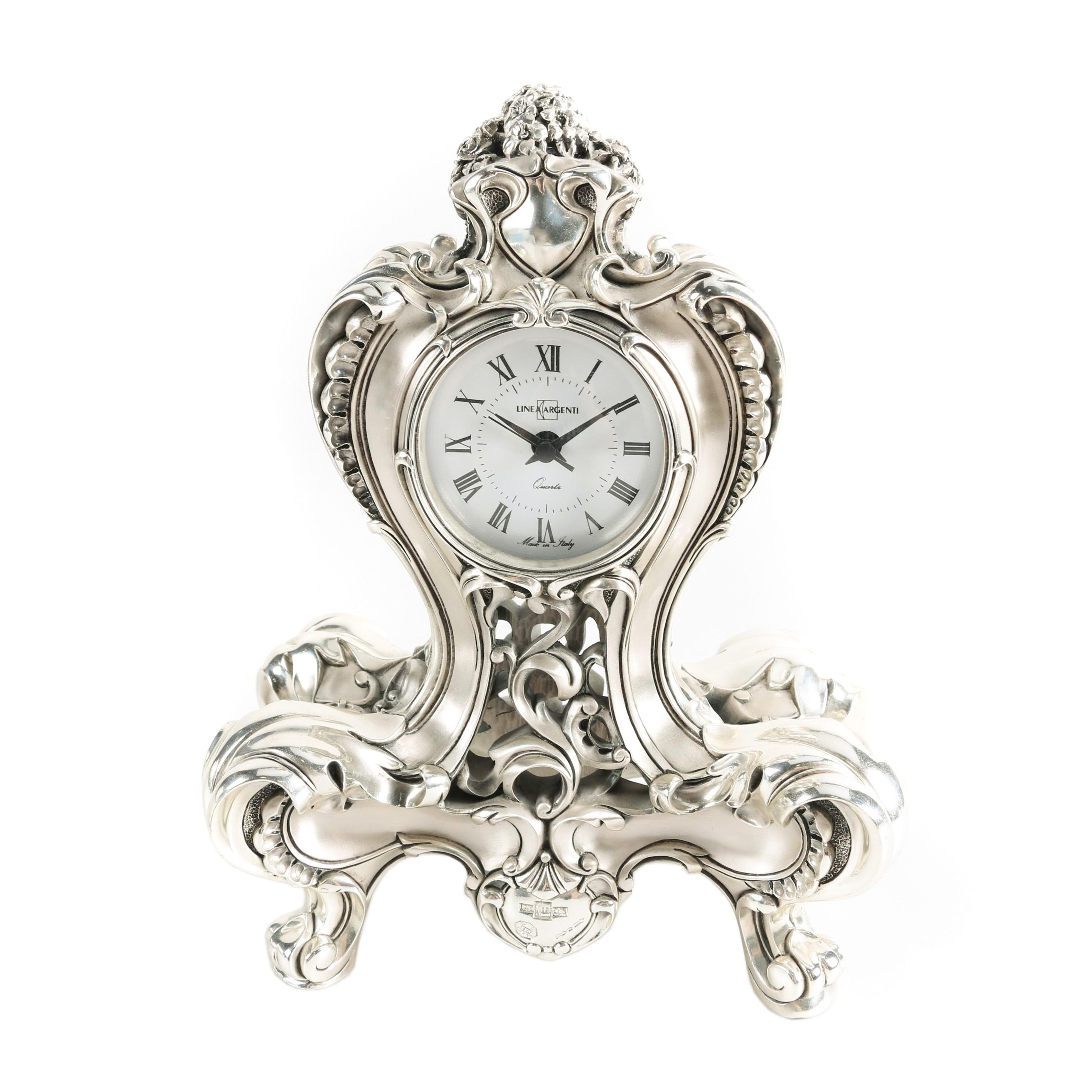 Linea Argenti French Style Mantel Clock