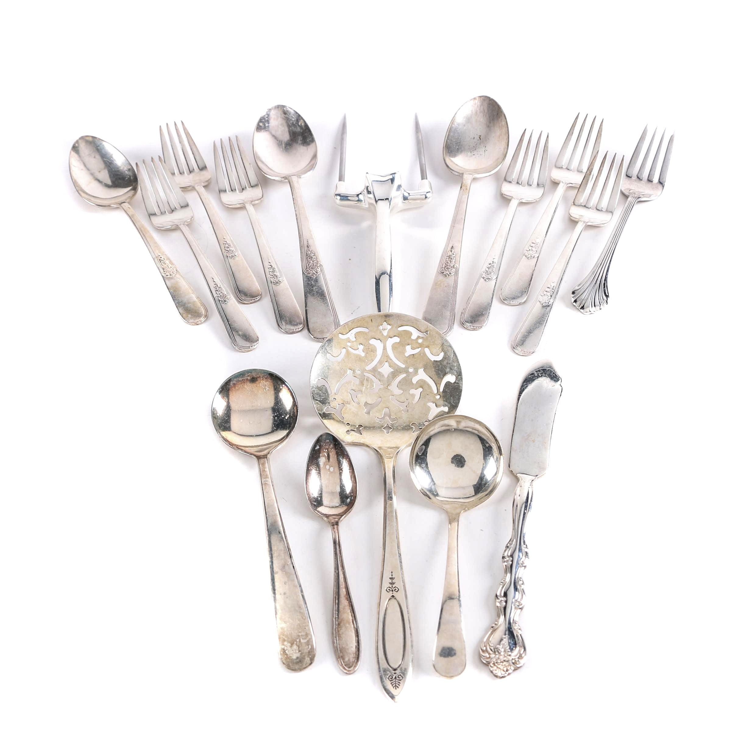 Silver Plate Utensils Featuring Community and International Silver Co.