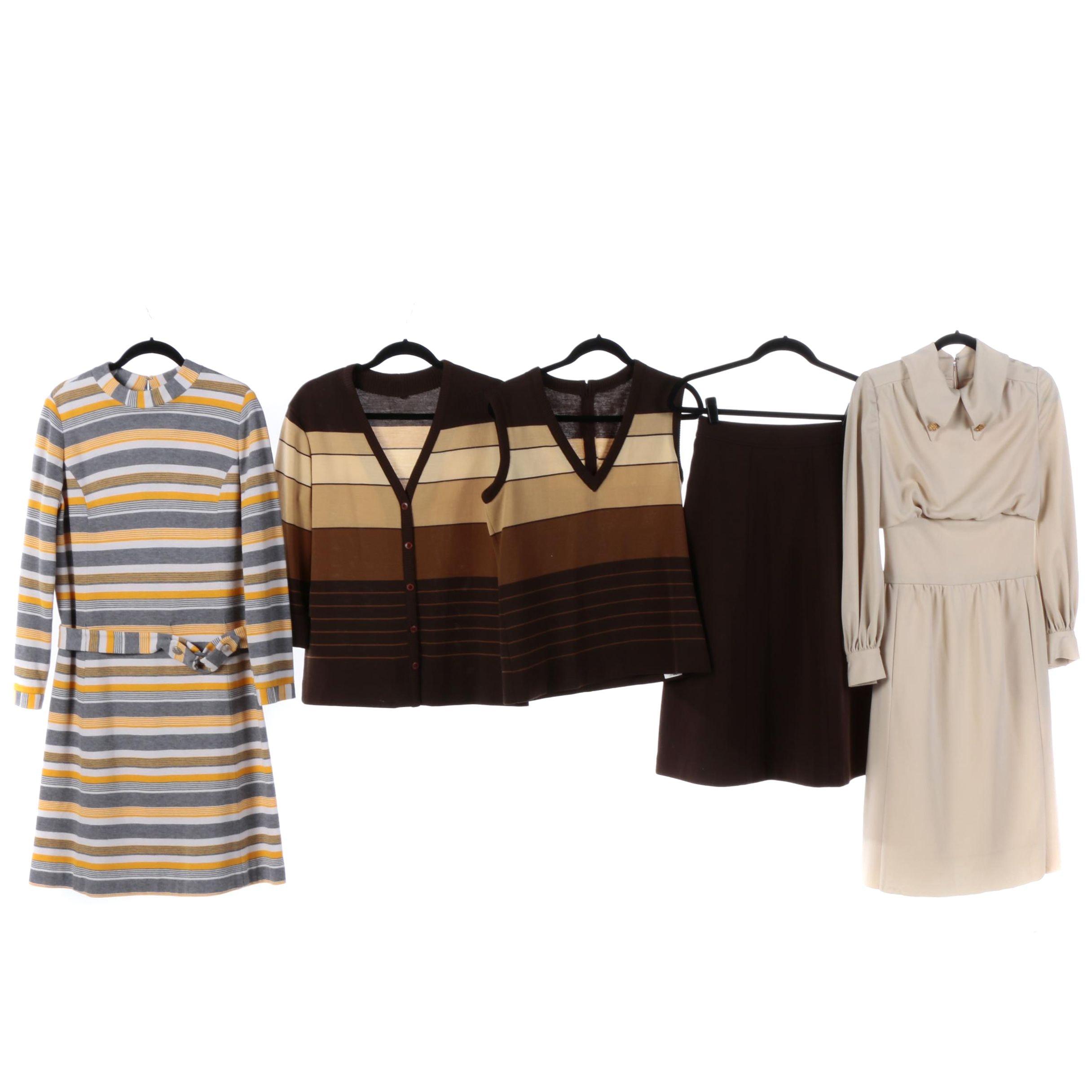 1970s Vintage Knit Dresses Including Mr. Mort, Made in Belgium