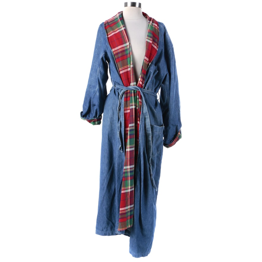 terrific value save off wide selection of colors Men's 1980s Vintage Ralph Lauren Denim and Flannel Robe