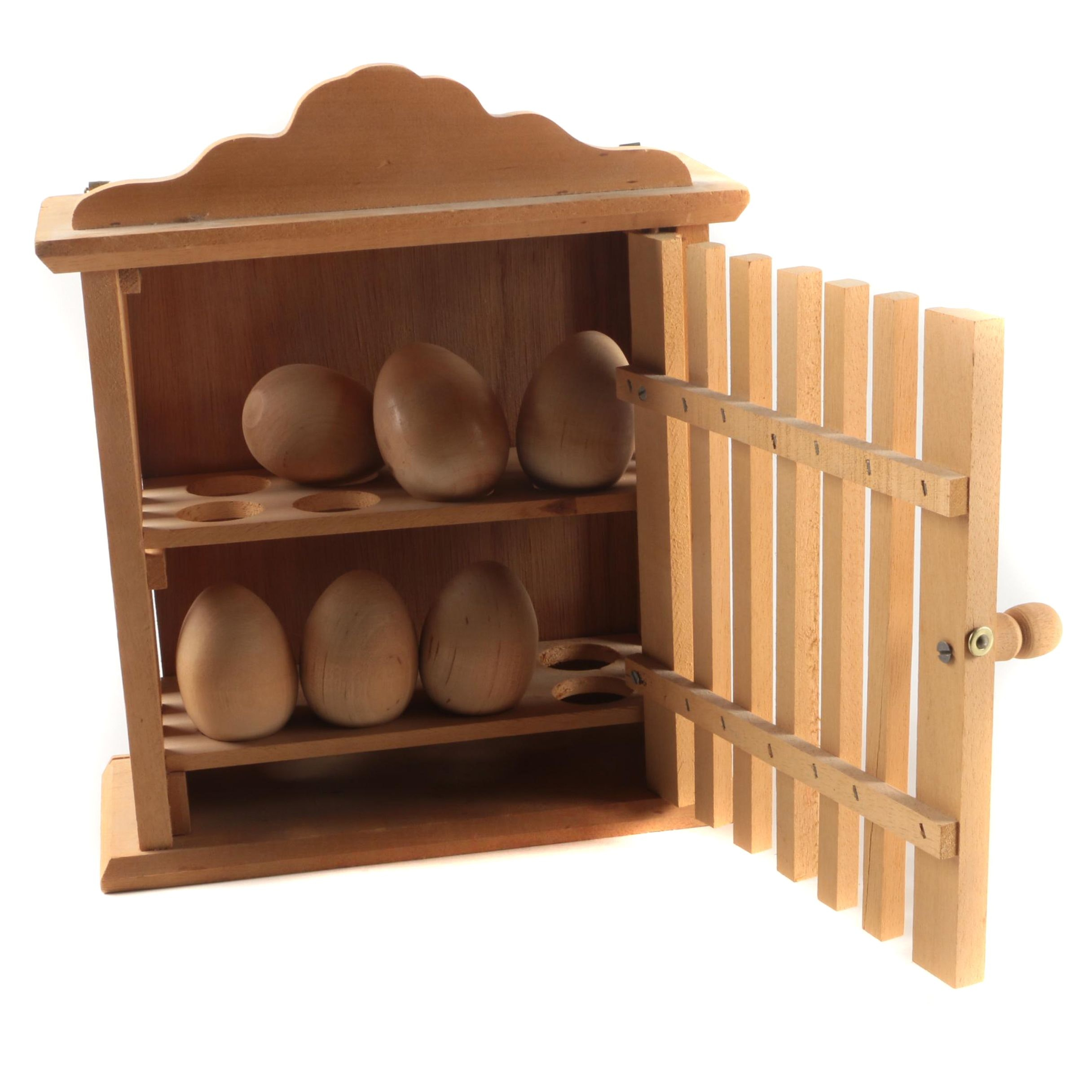 Wall Hanging Wooden Egg Cage
