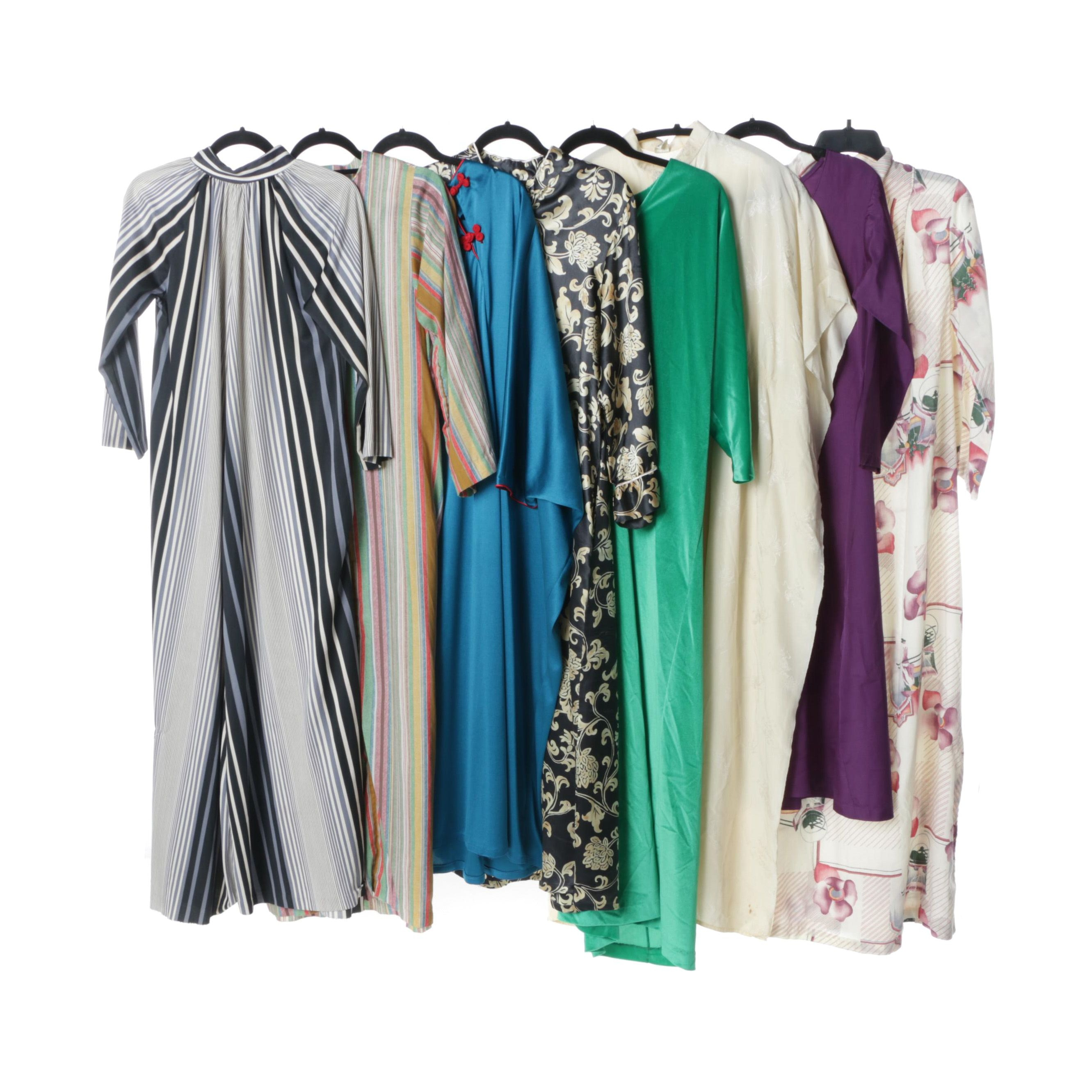 1970s Maxi Dresses and Kaftans Including Silk