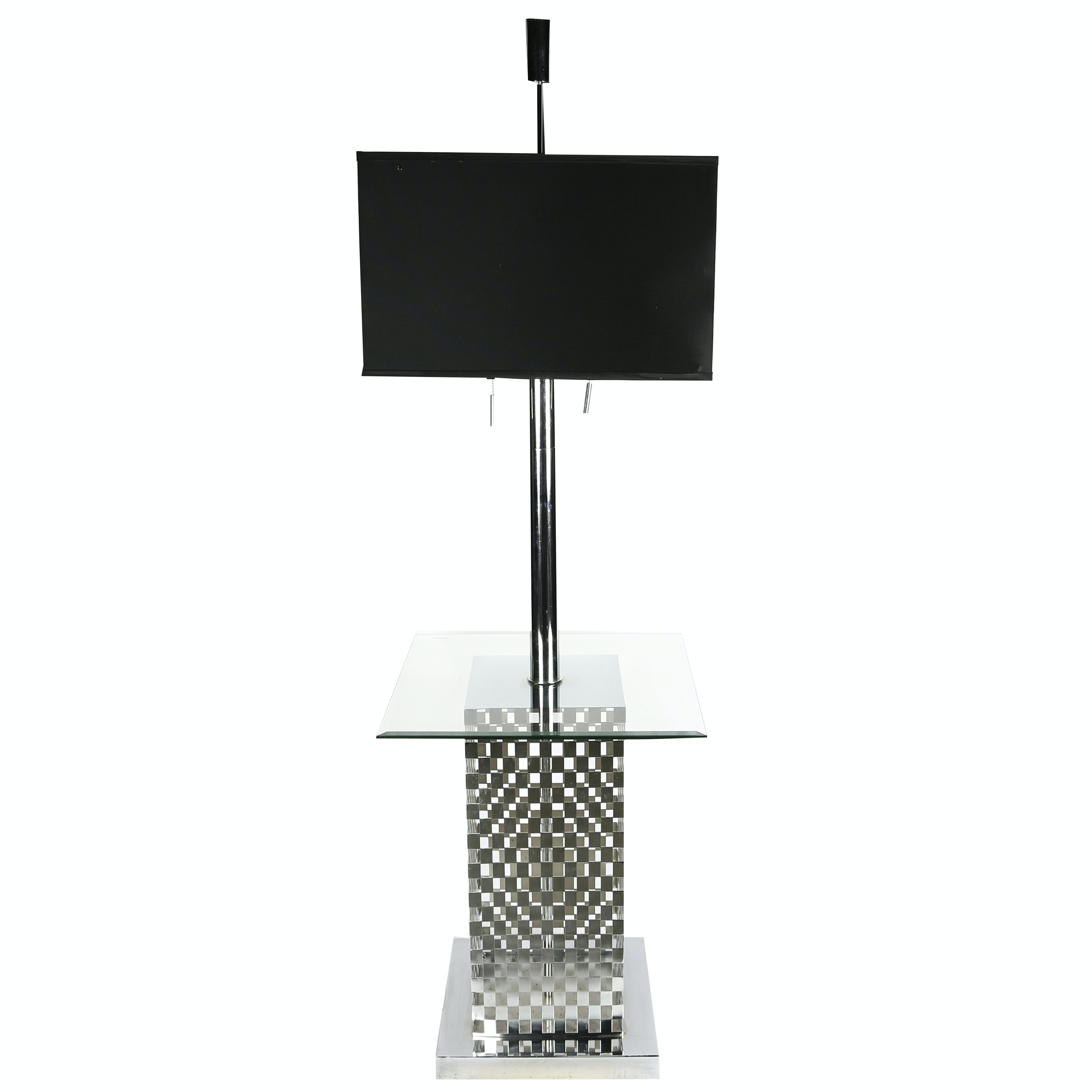 Contemporary Side Table Floor Lamp