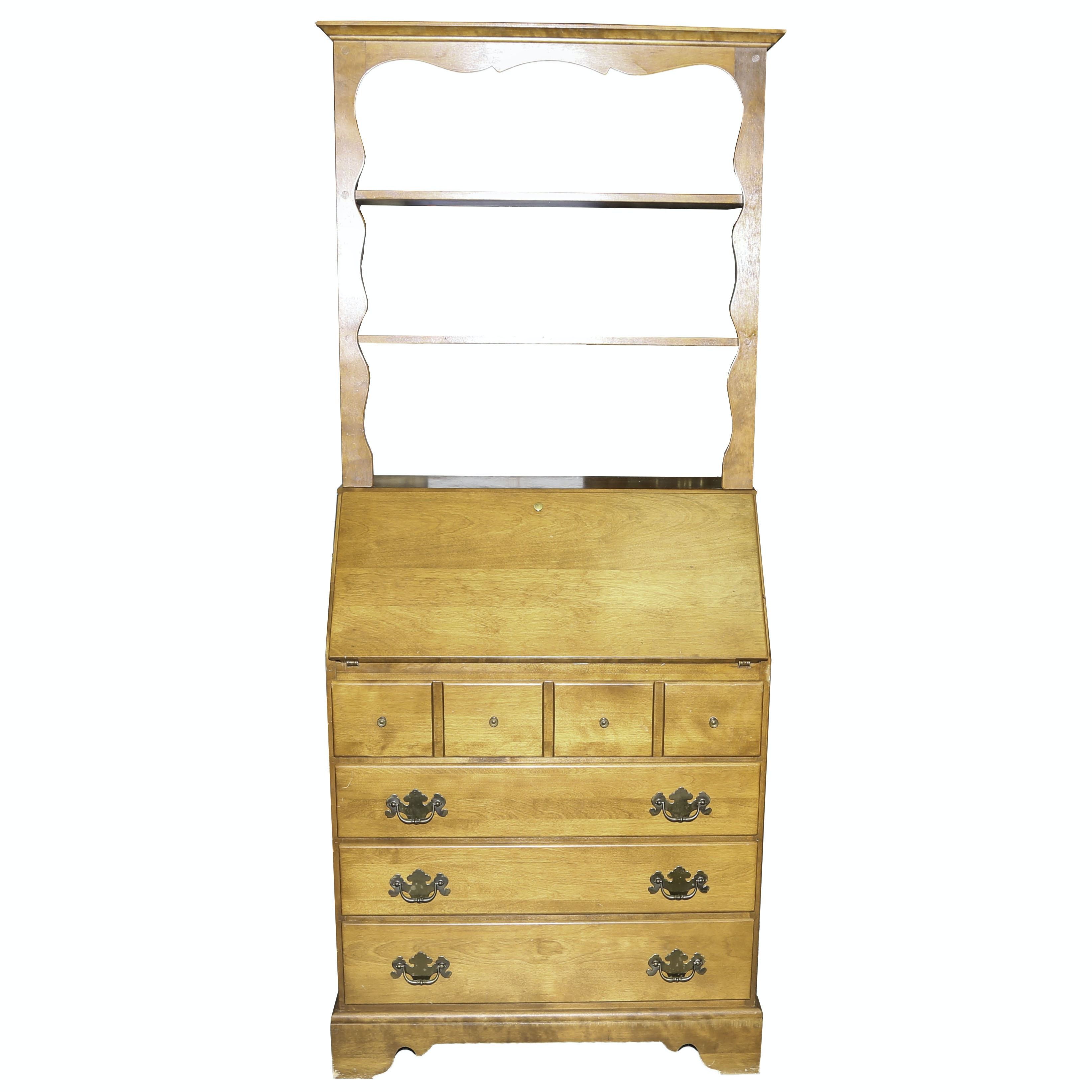 Colonial Revival Style Slant Top Secretary from Ethan Allen