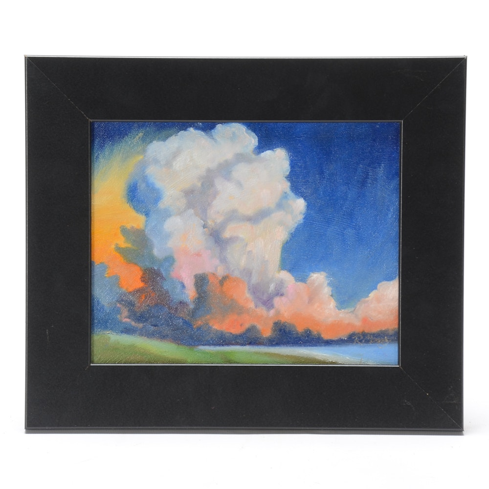 "Rebecca Manns Oil Painting ""Sunset Explosion"""