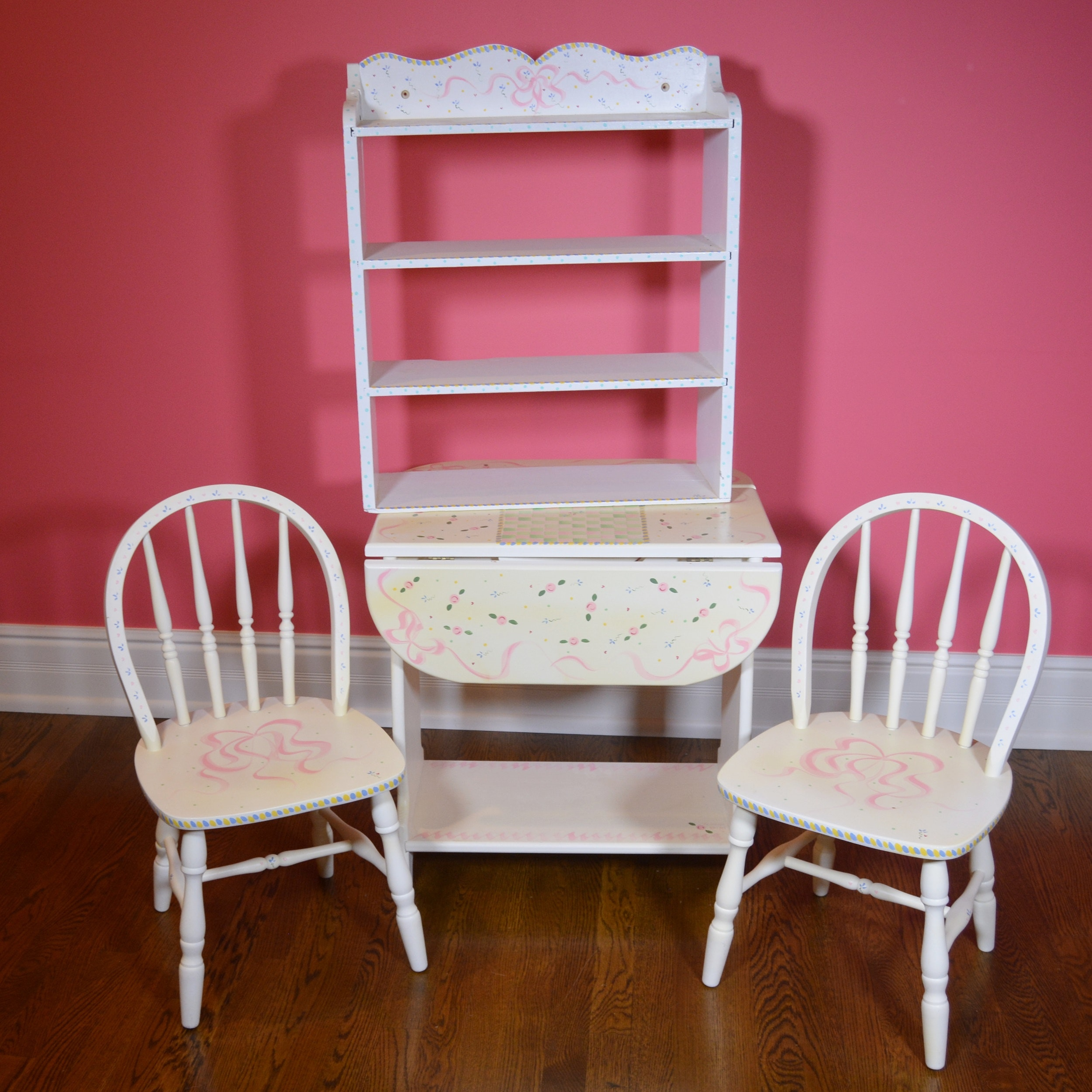 Hand Painted Child's Table and Chairs