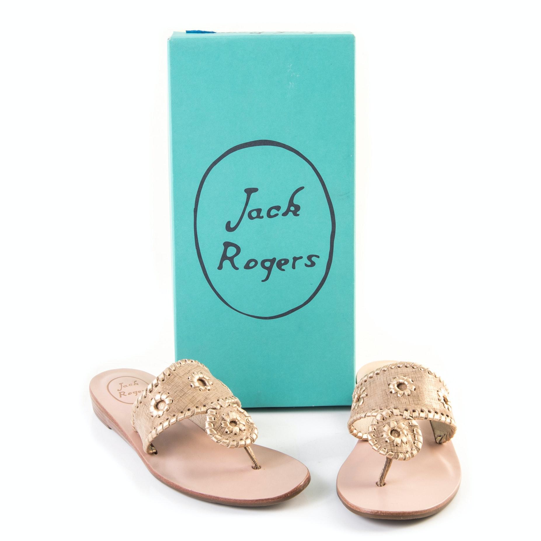 Jack Rogers Capri Etched Thong Sandals
