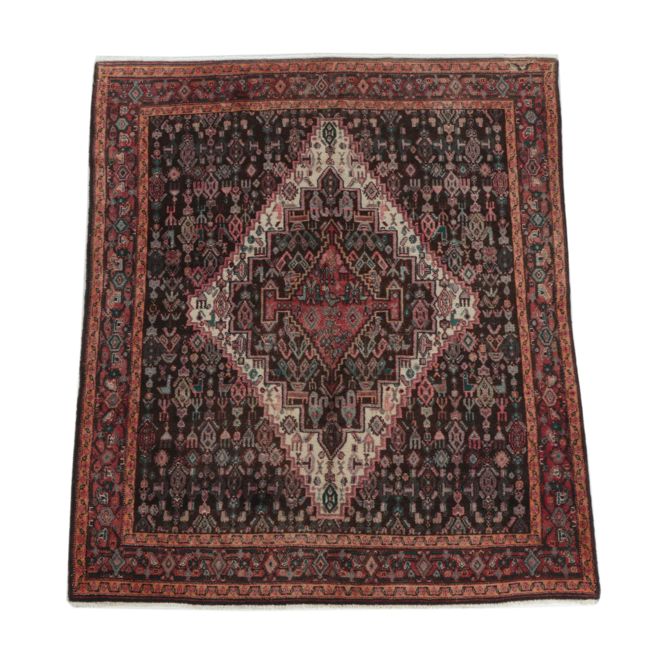 Hand-Knotted Persian Senneh Area Rug