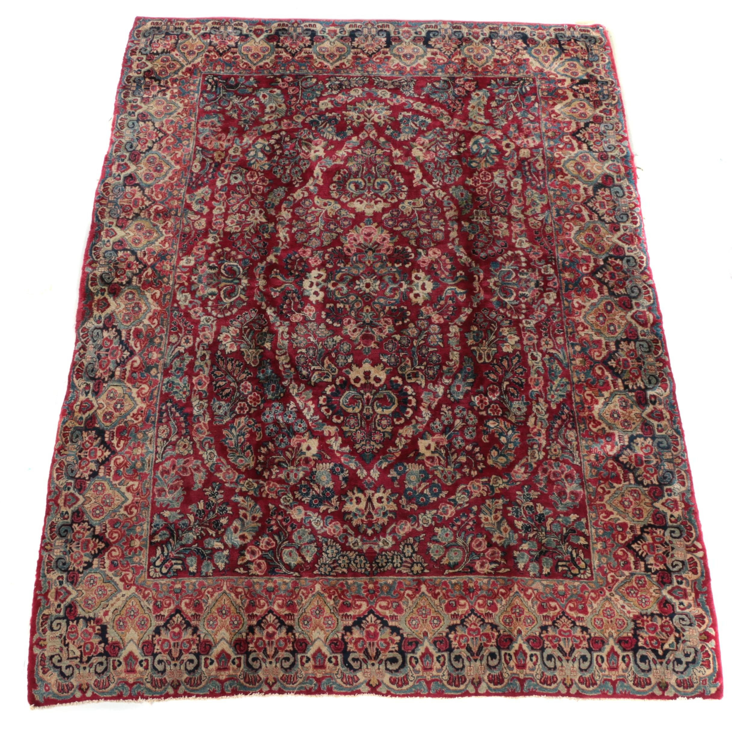 Hand-Knotted Central Asian Wool Area Rug