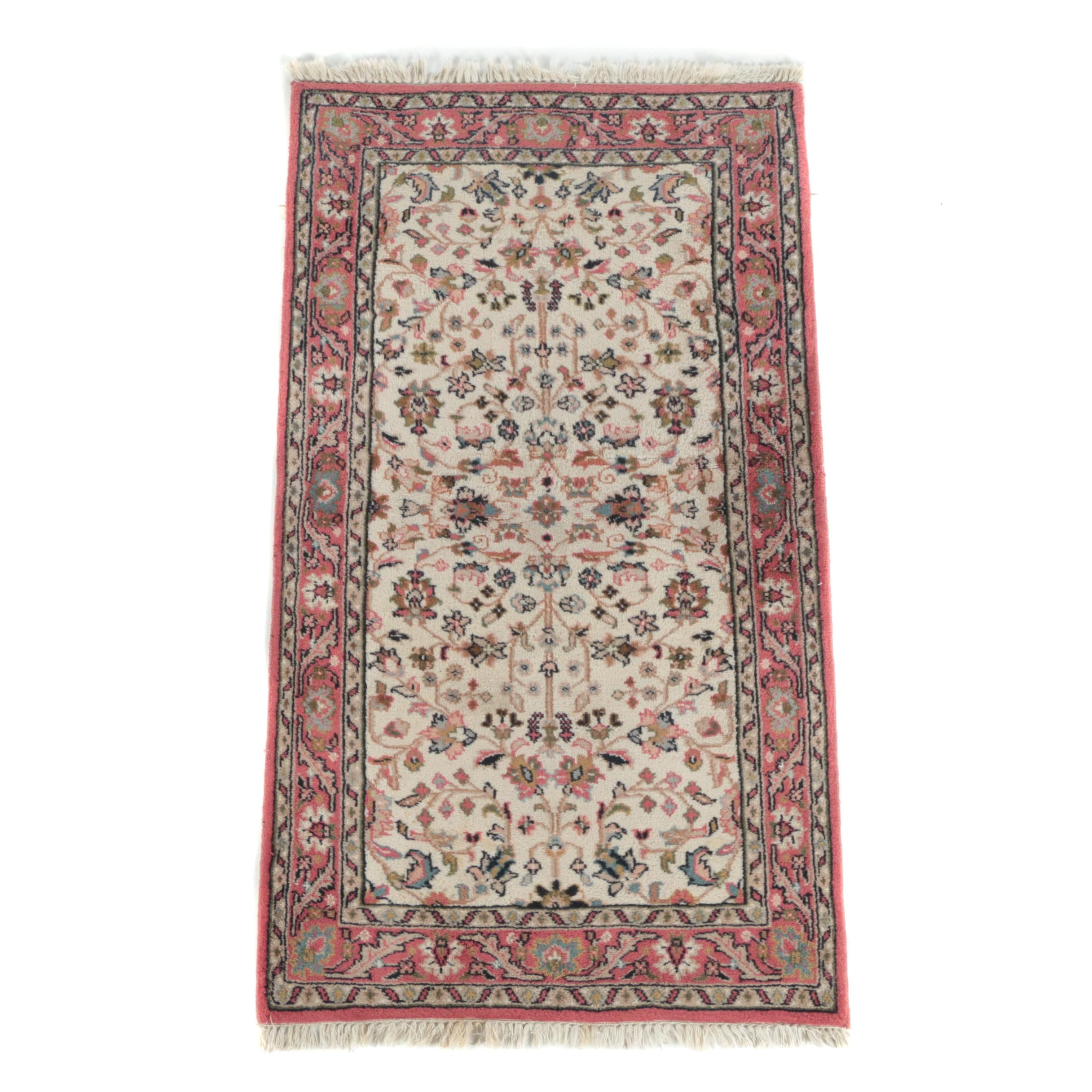 "Hand-Knotted Indian ""Lilly"" Wool Accent Rug by Van Caster"