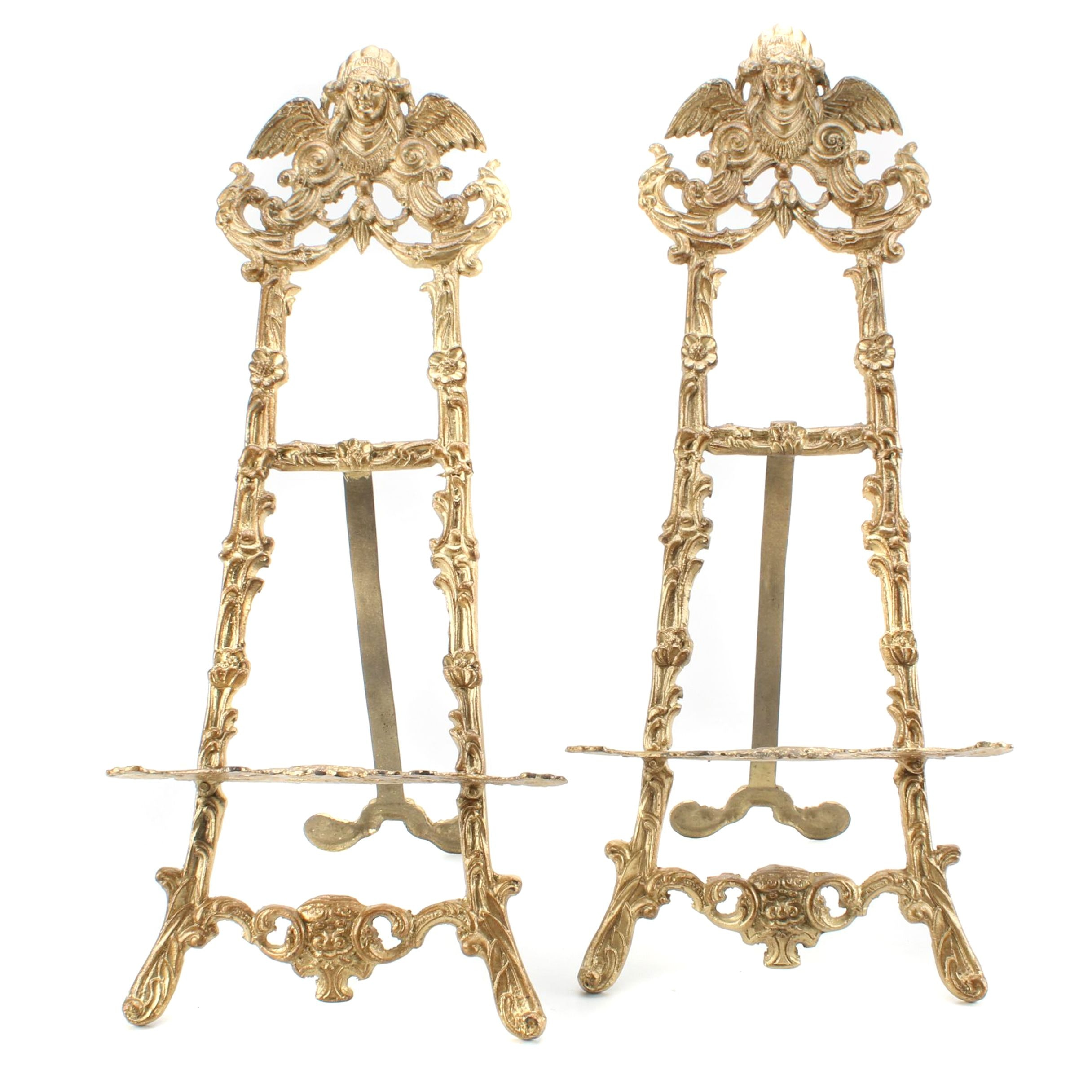 Gold Tone Metal Easel Stands
