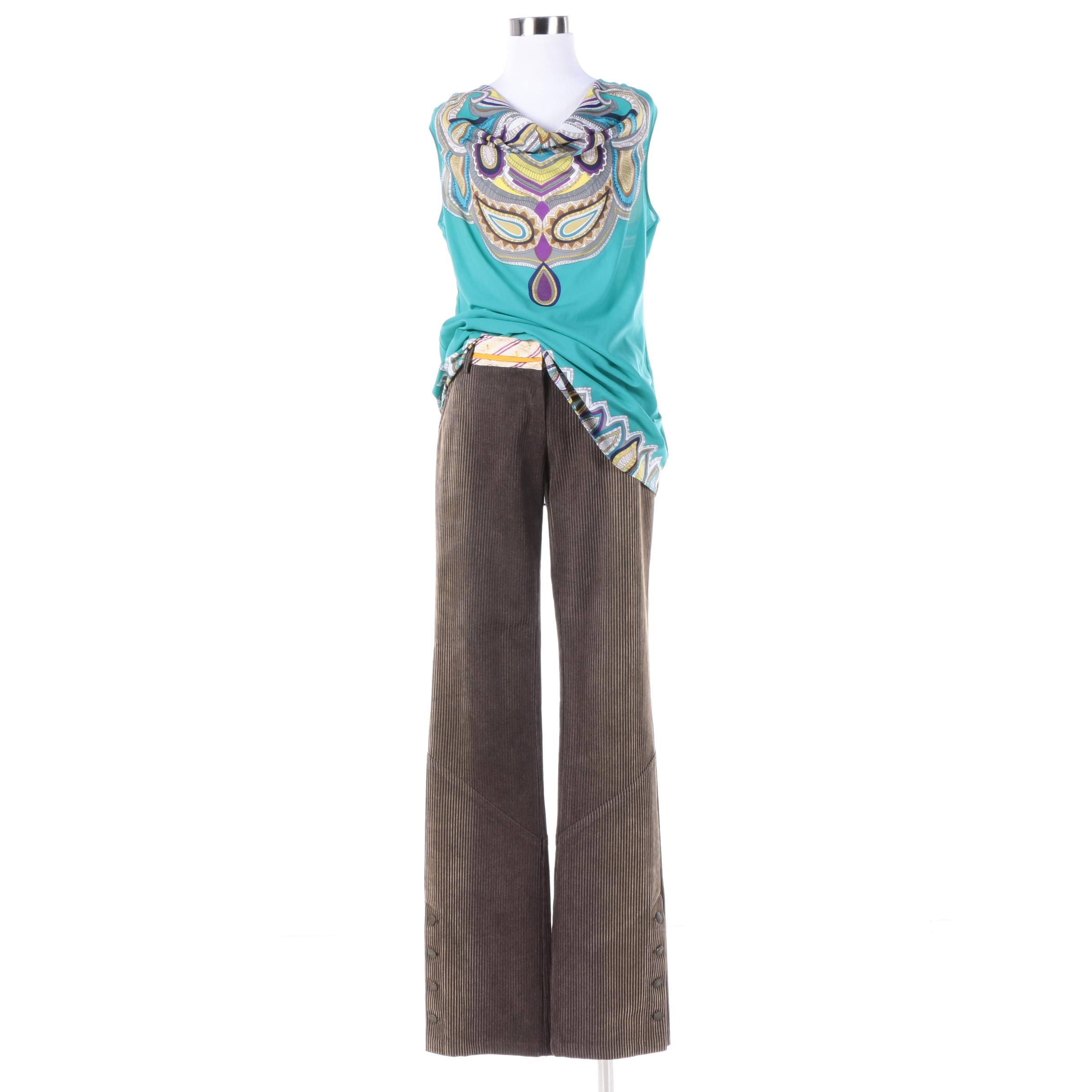 Women's Nicole Miller Collection Pants and Nicole by Nicole Miller Top
