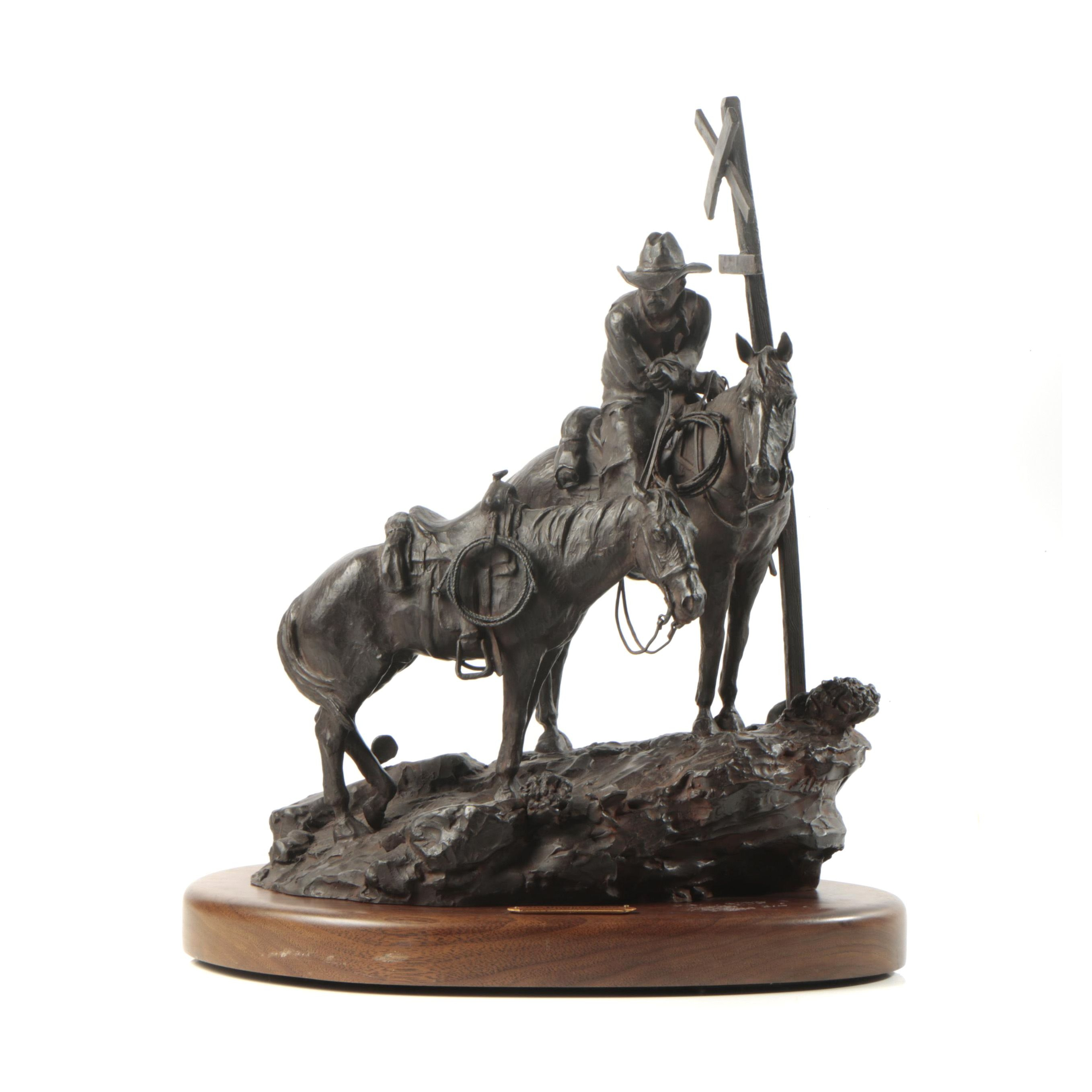 "1993 Limited Edition Bronze Recast Sculpture After G. Harvey ""The Homecoming"""