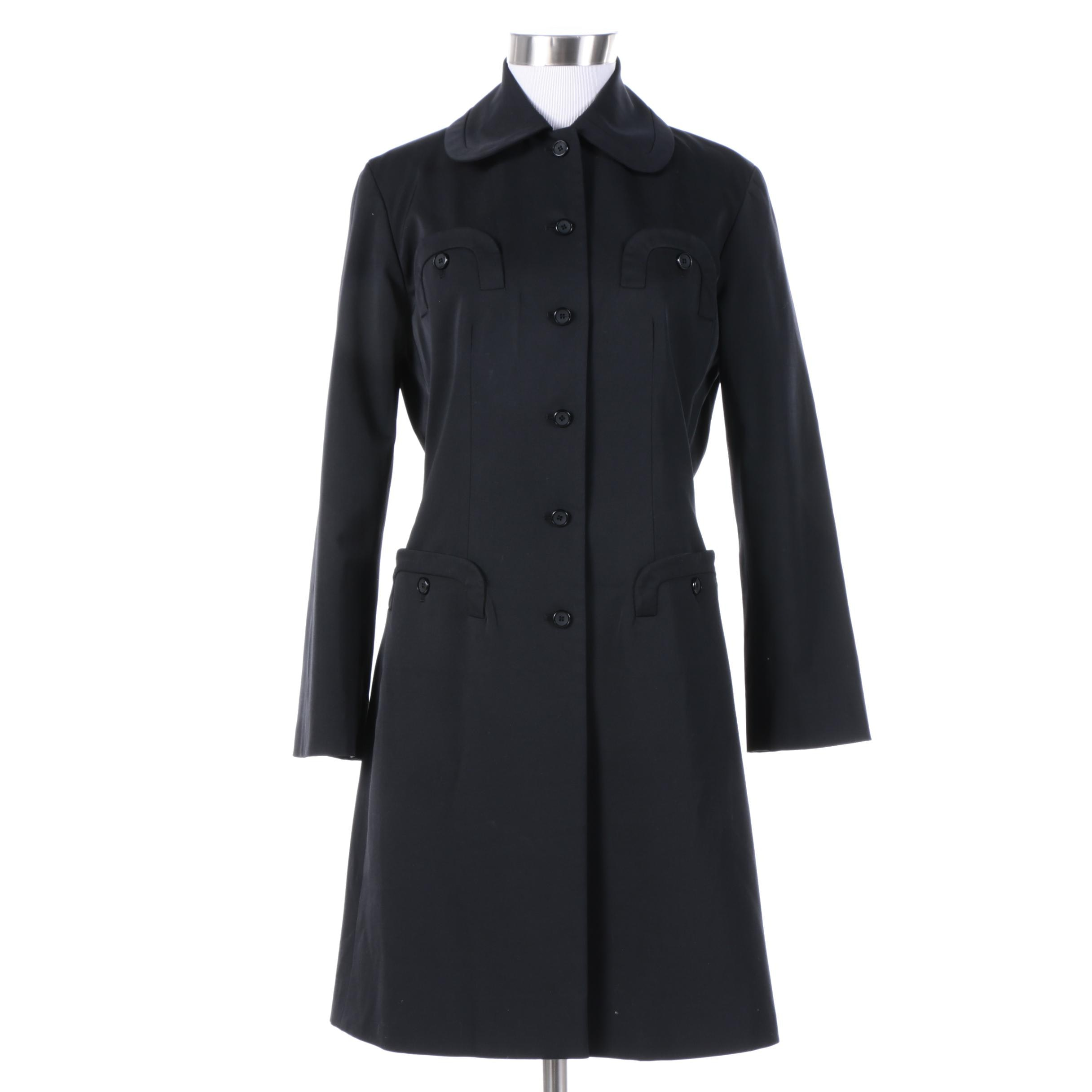 Women's Etcetera Black Poly-Blend Jacket