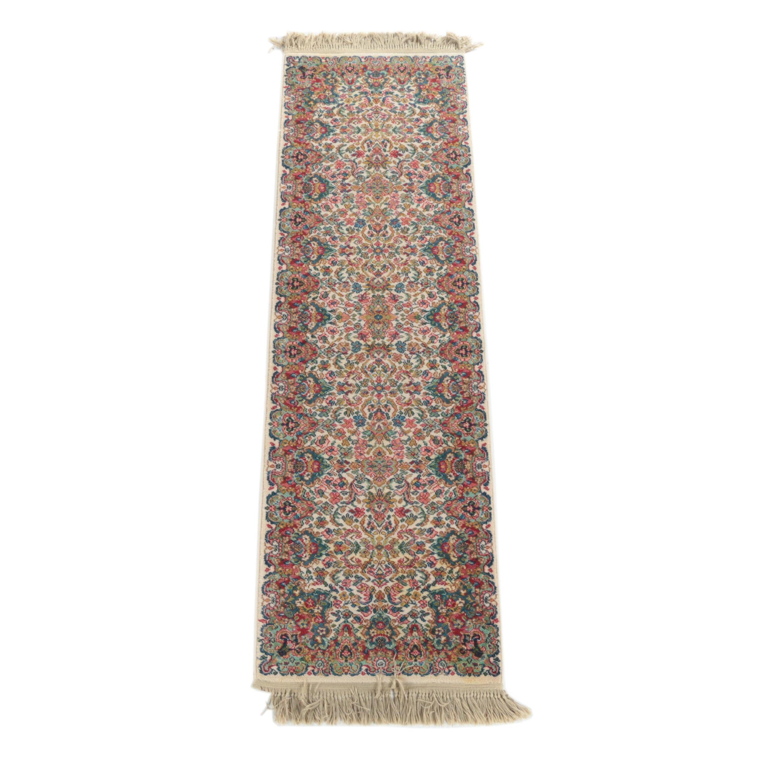 "Karastan ""Floral Kirman"" Carpet Runner"