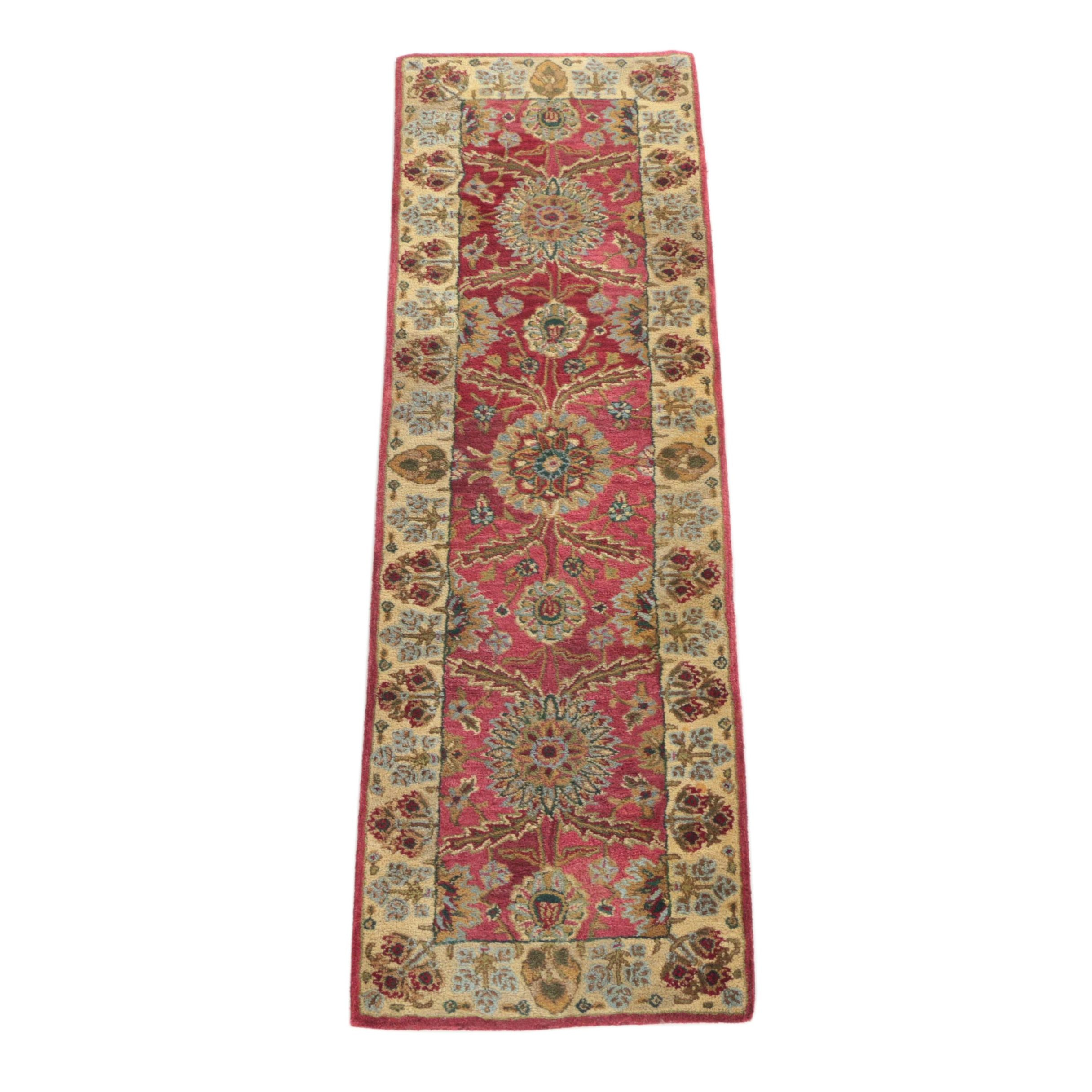 "Hand-Tufted Indian ""Jaipur Collection"" Carpet Runner"