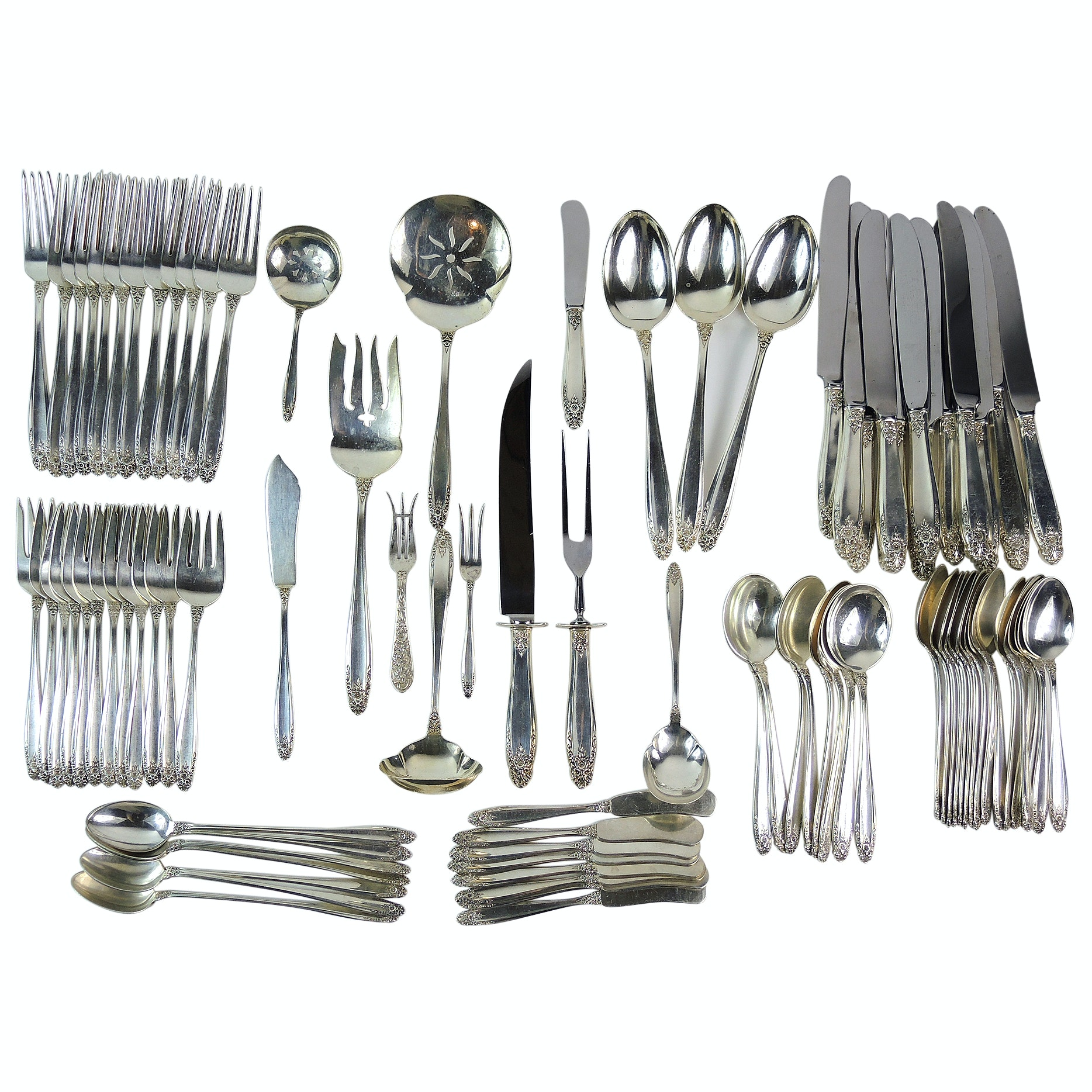 """International Silver Co. """"Prelude"""" Sterling Silver Flatware and Serving Pieces"""
