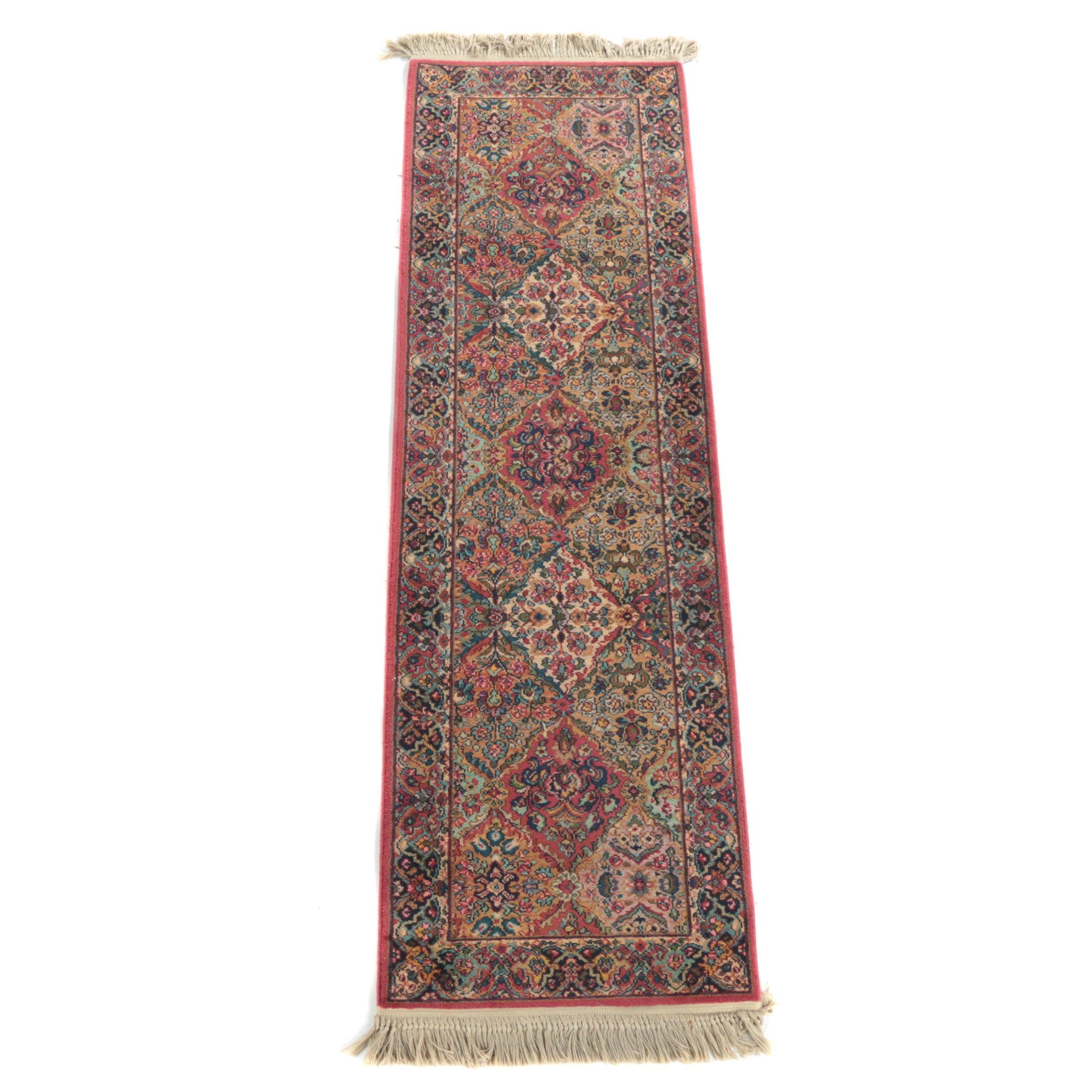 """Power-Loomed Karastan """"Panel Kirman"""" Wool Carpet Runner"""