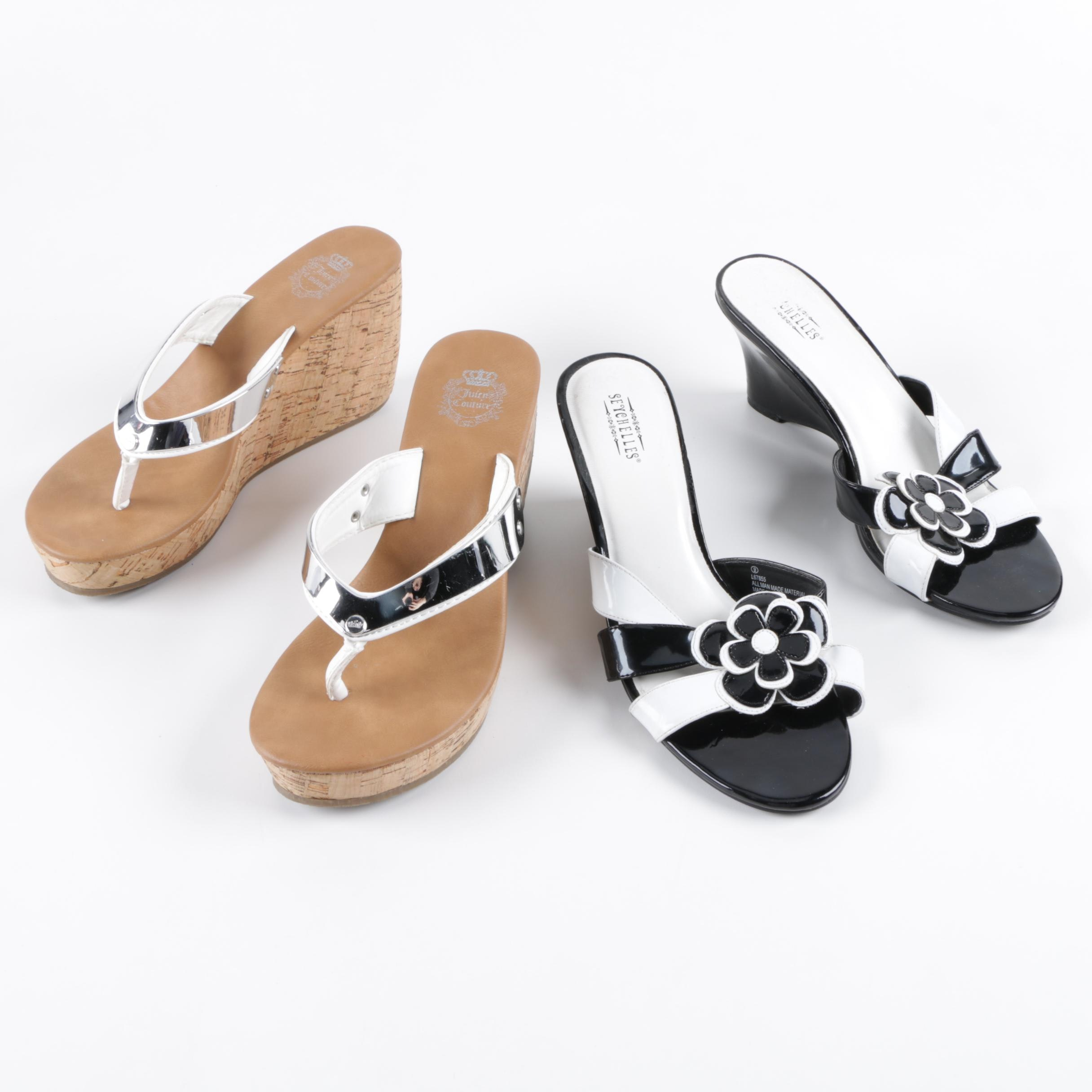 Juicy Couture and Seychelles Wedges