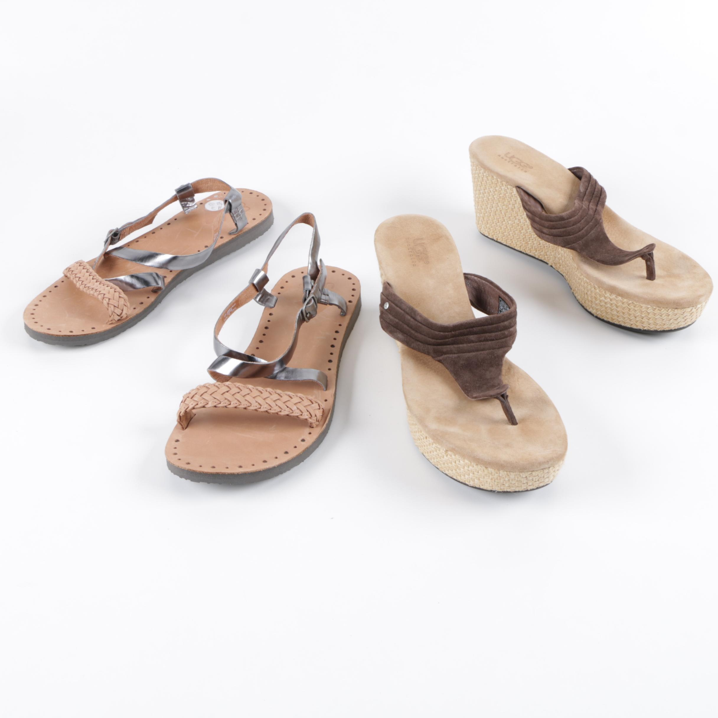 Women's UGG Leather Sandals