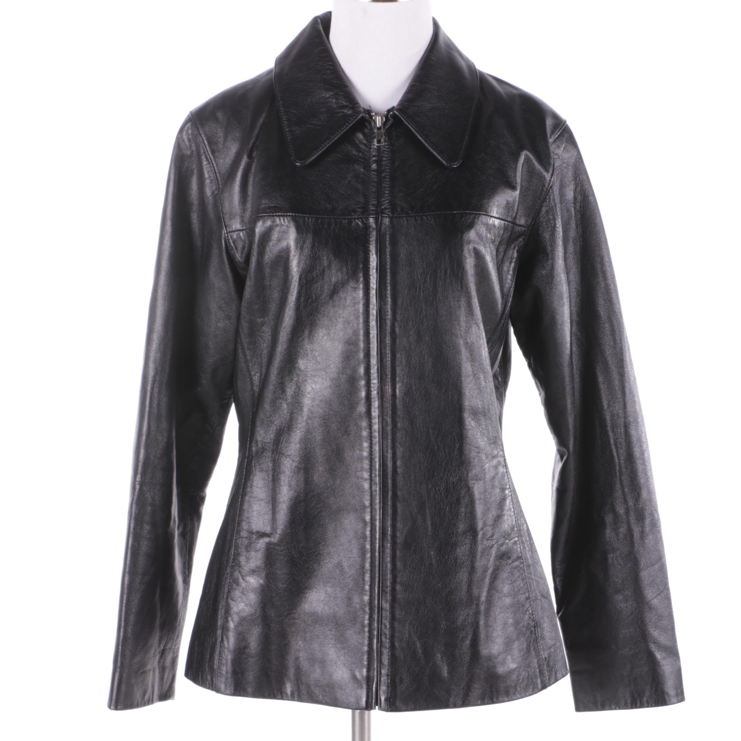 Women's Wilsons Leather Maxima Black Leather Jacket