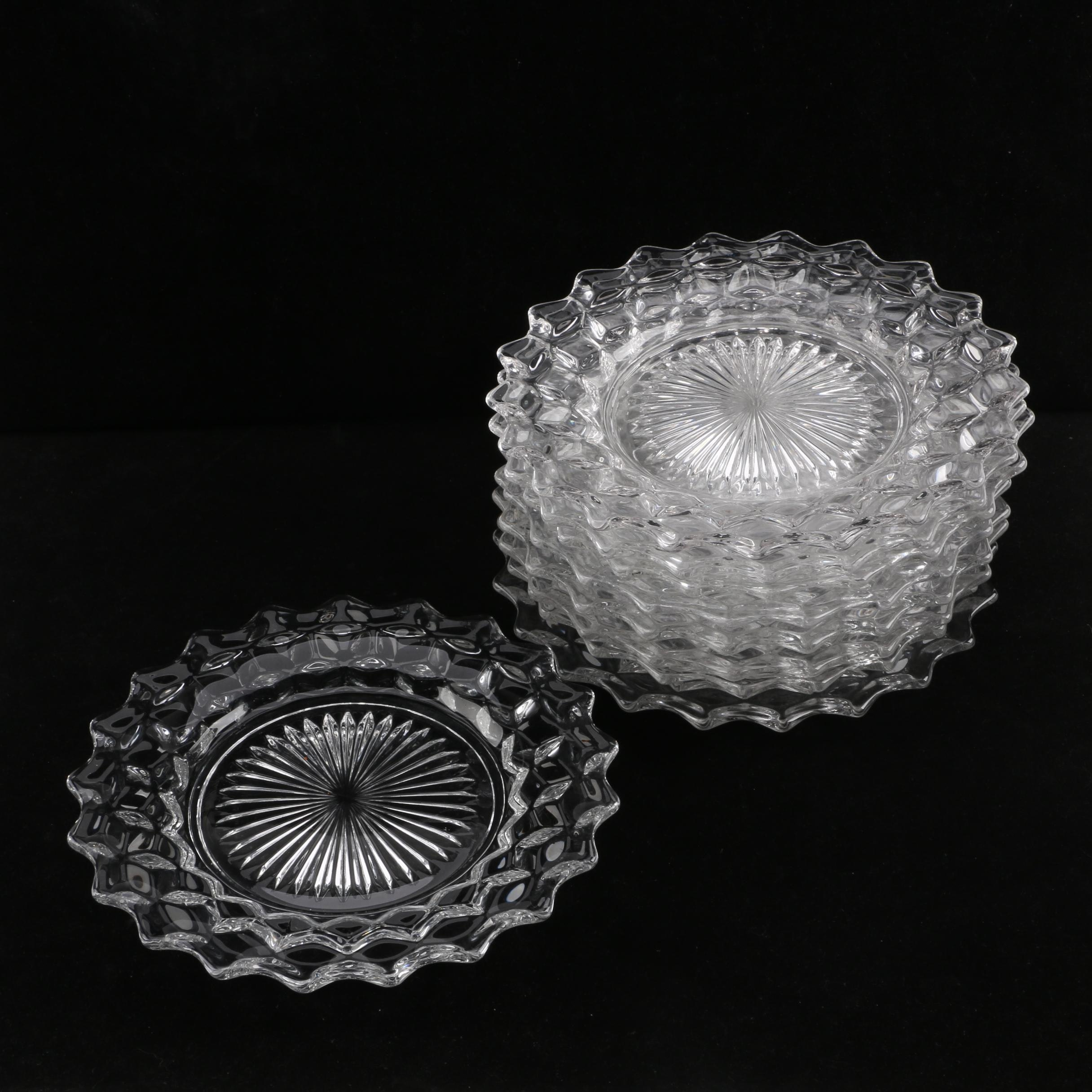 "Fostoria ""American Clear"" Pressed Glass Salad Plates"