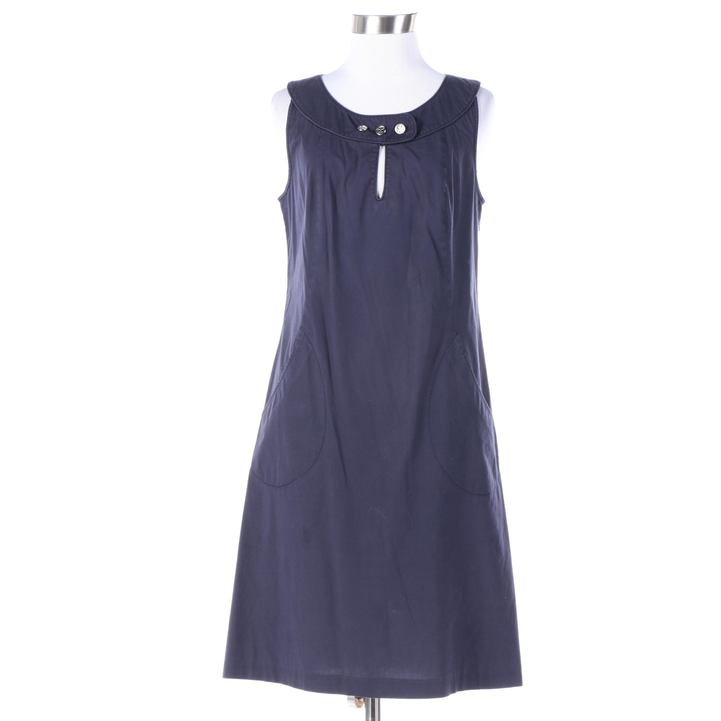 Tory Burch Blue Sleeveless Dress