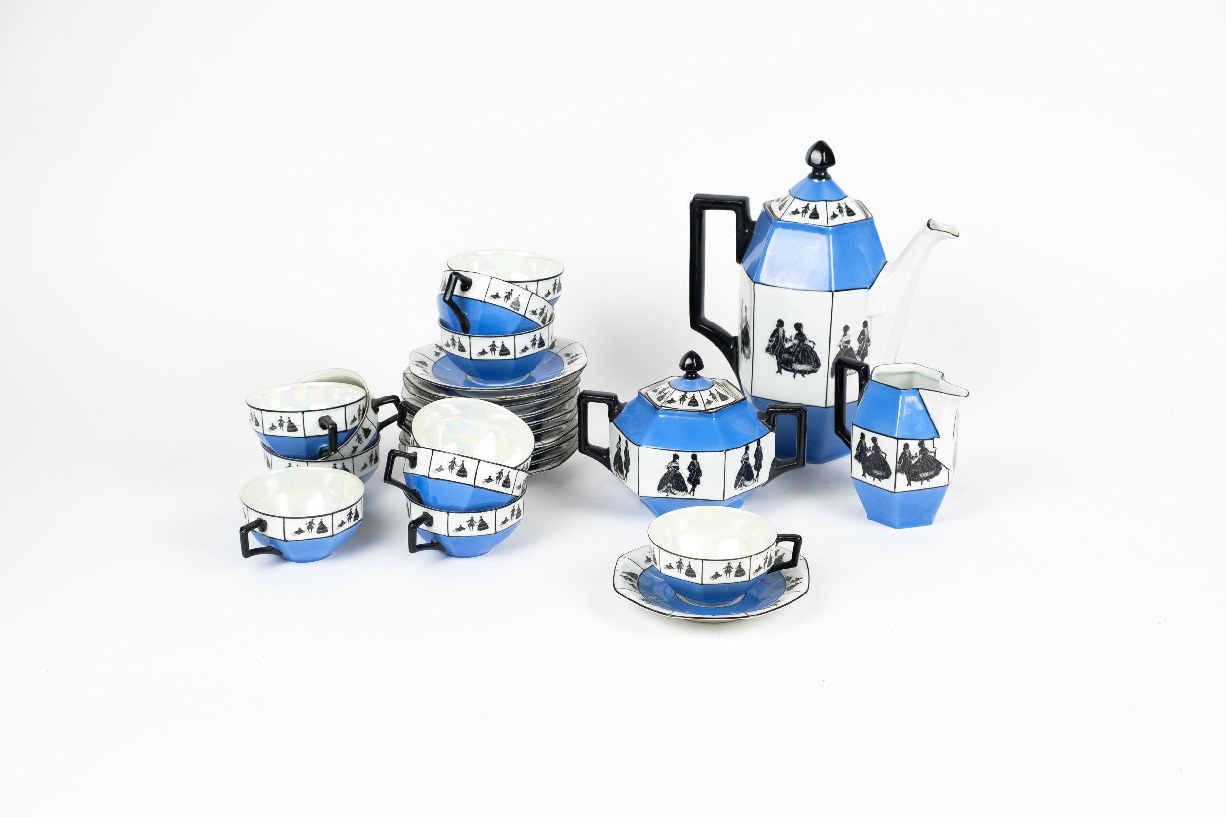Union K Czech Porcelain Silhouette Coffee Service