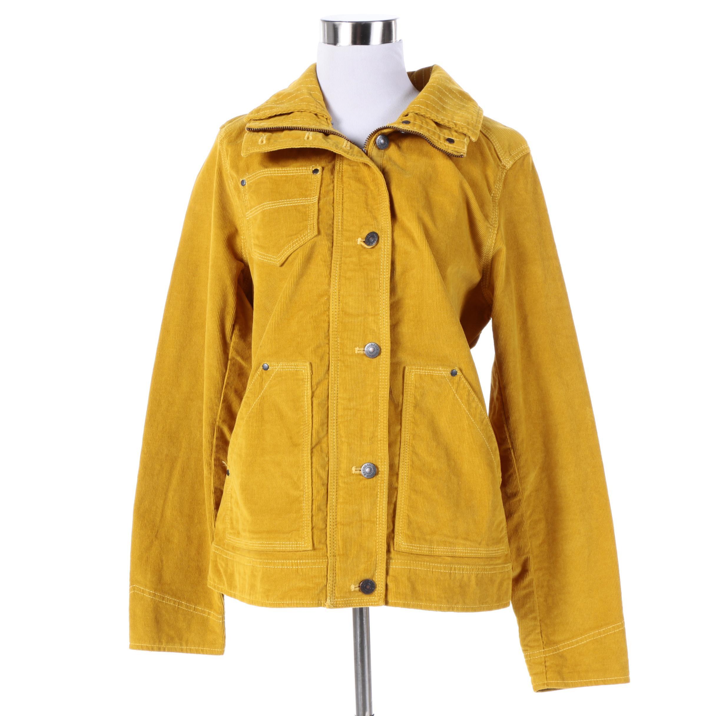 Women's Eddie Bauer Mustard Yellow Corduroy Jacket