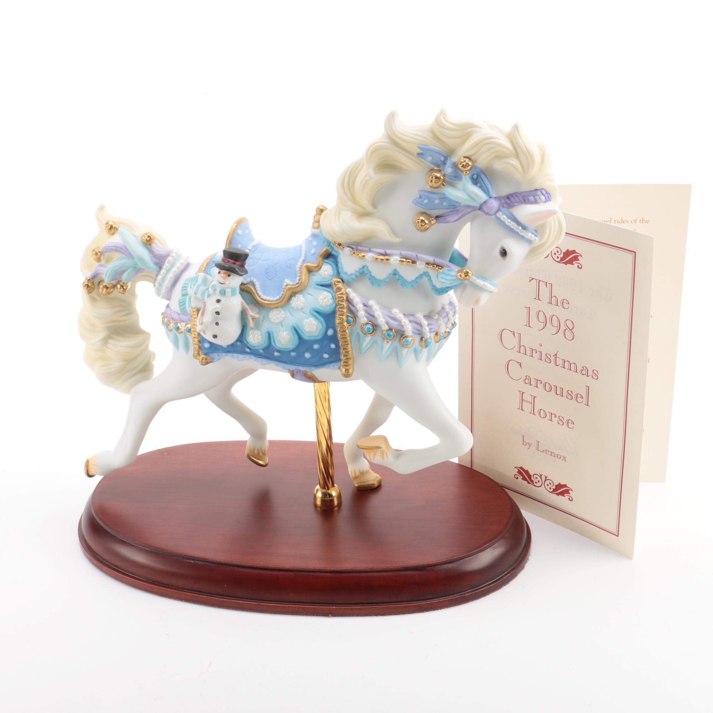 "Lenox 1998 ""Christmas Carousel Horse"" Figurine"