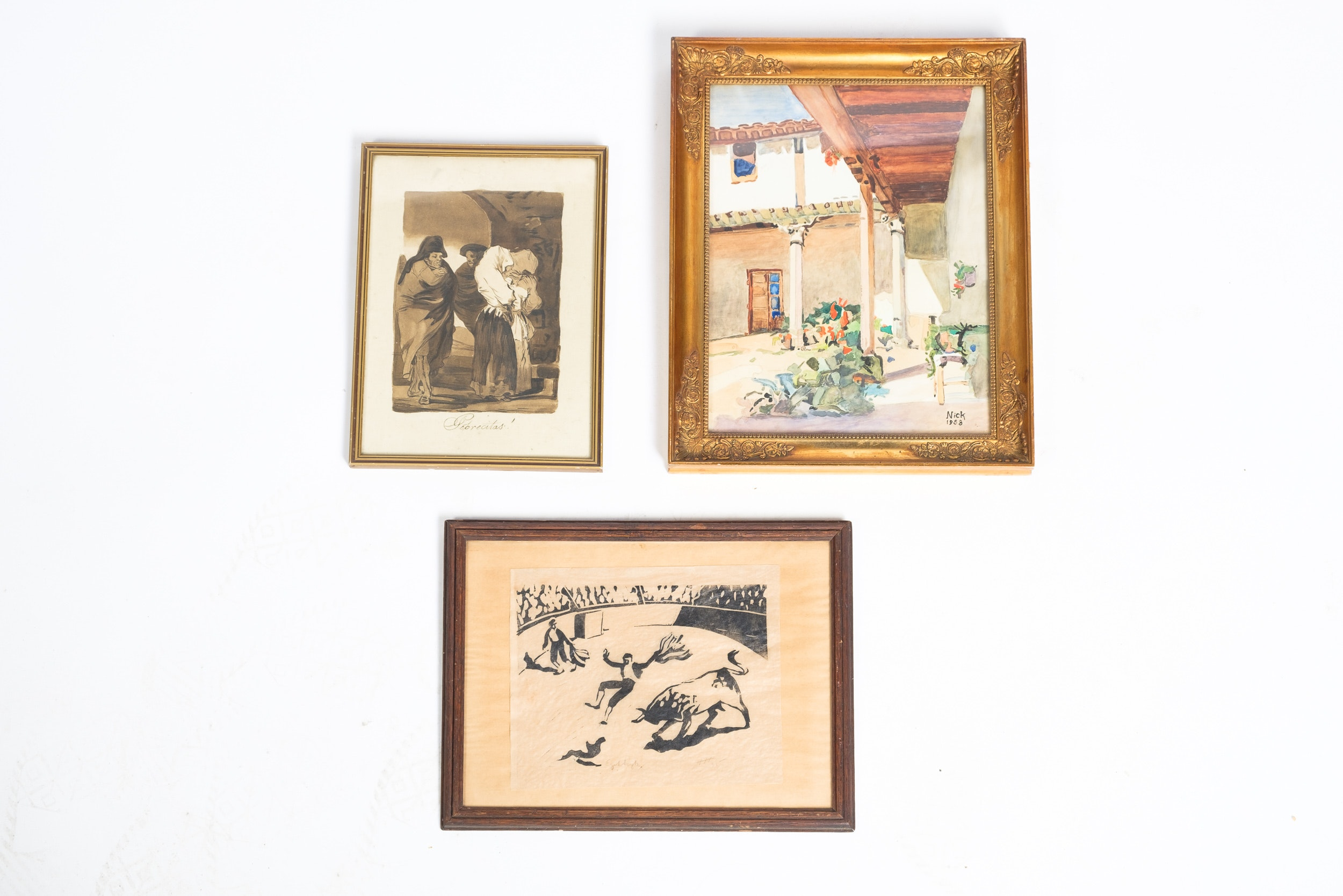Prints and Watercolor Featuring Goya