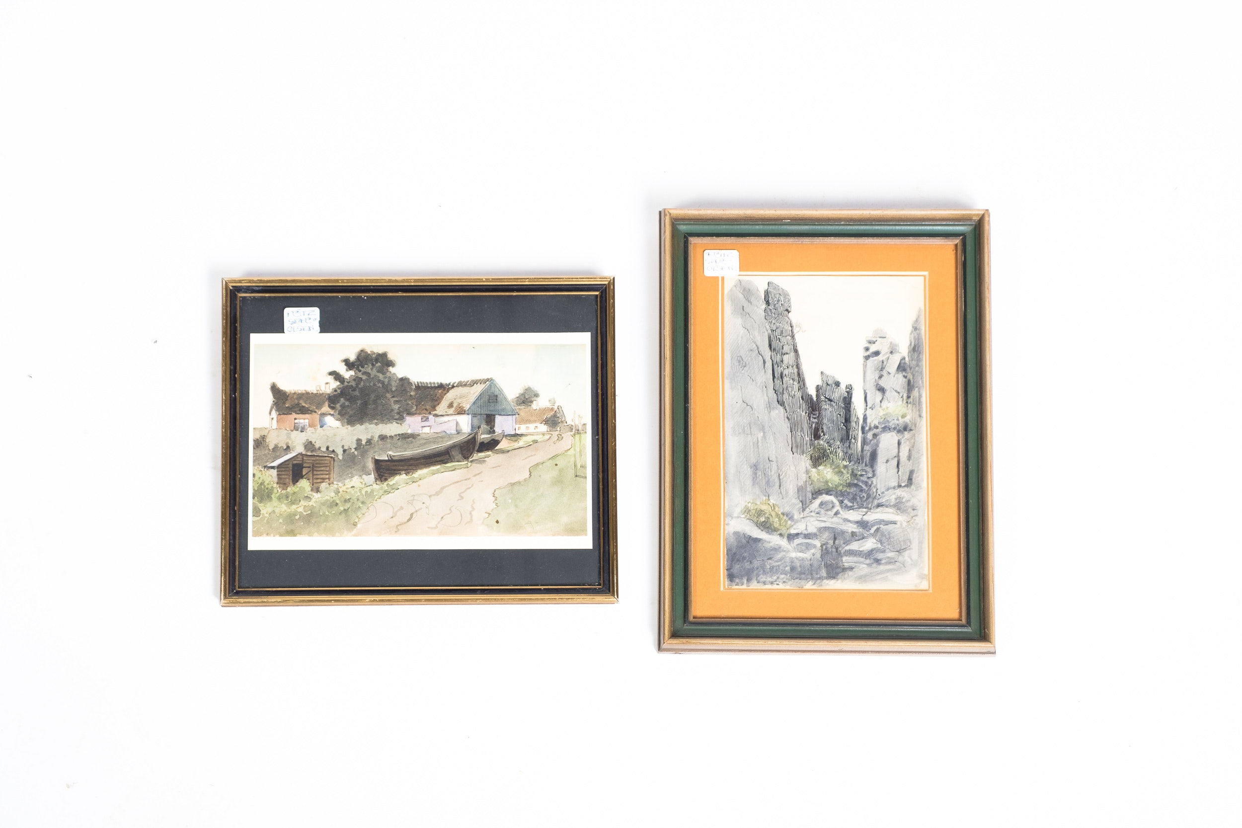 Fritz Stær-Olsen Watercolor Paintings