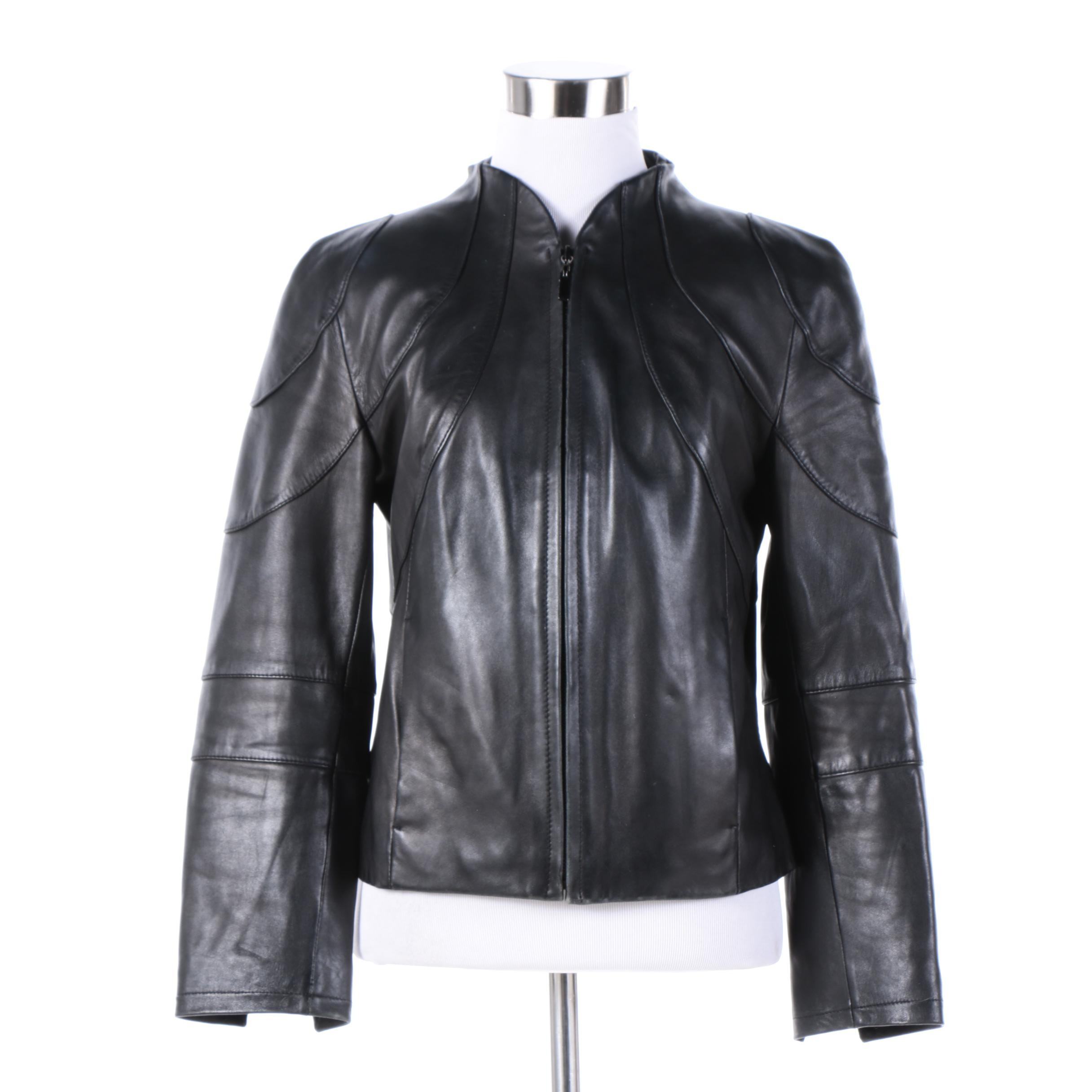 Women's Siena Studio Black Leather Jacket
