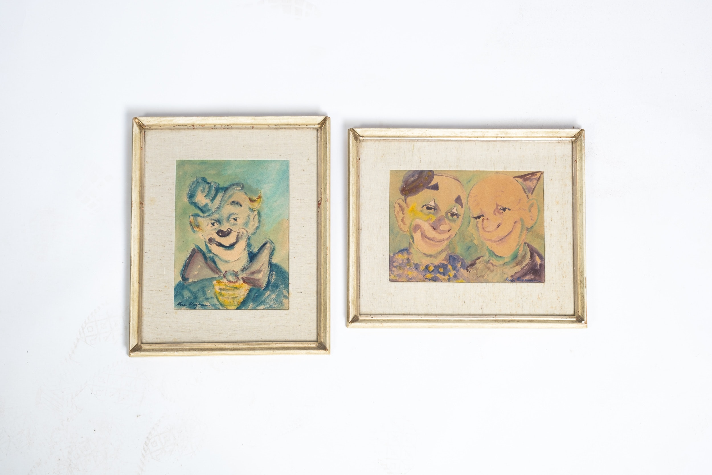 Niels Mogensen Watercolor Paintings of Clowns