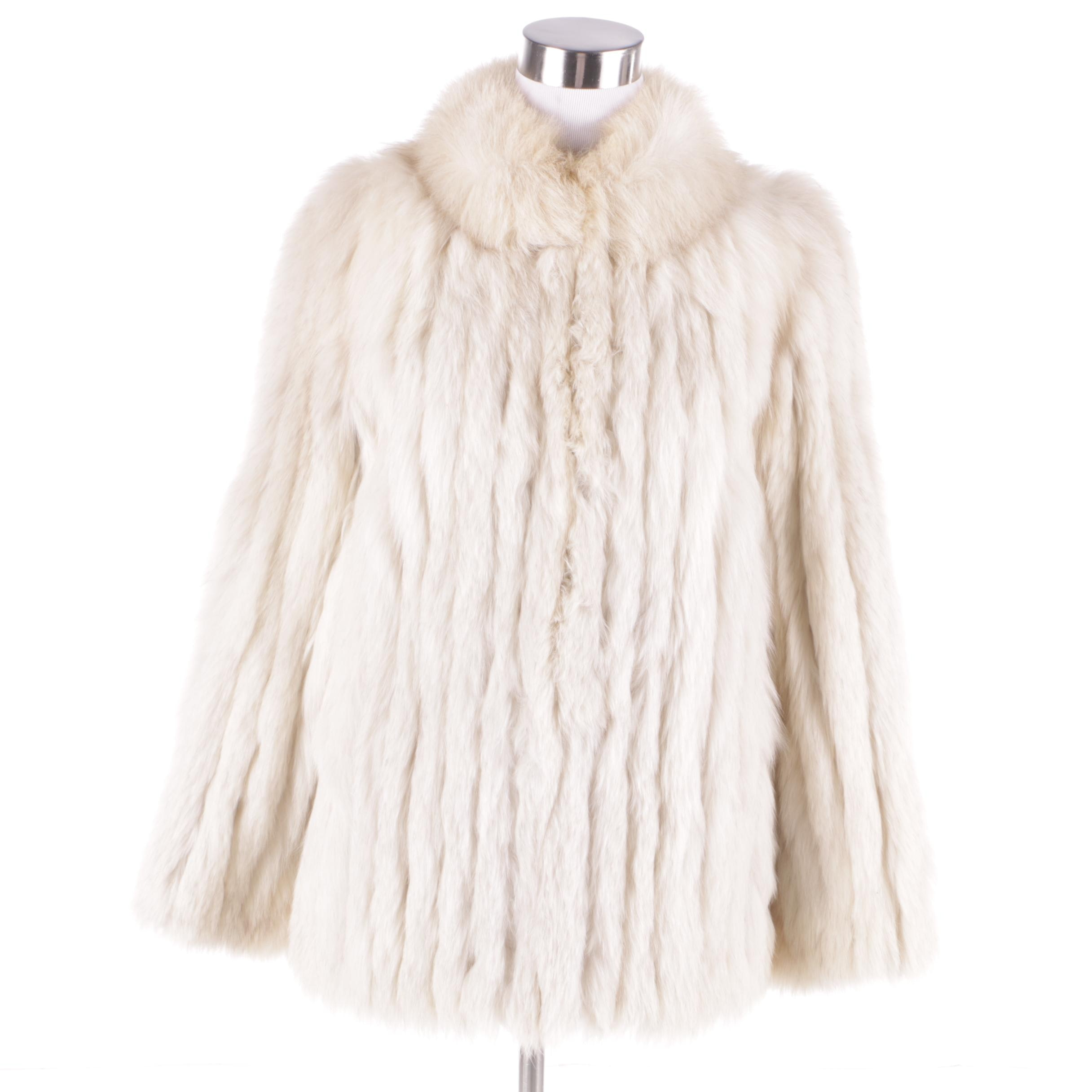 Women's Saga Fox Natural Blue Fox Fur Coat