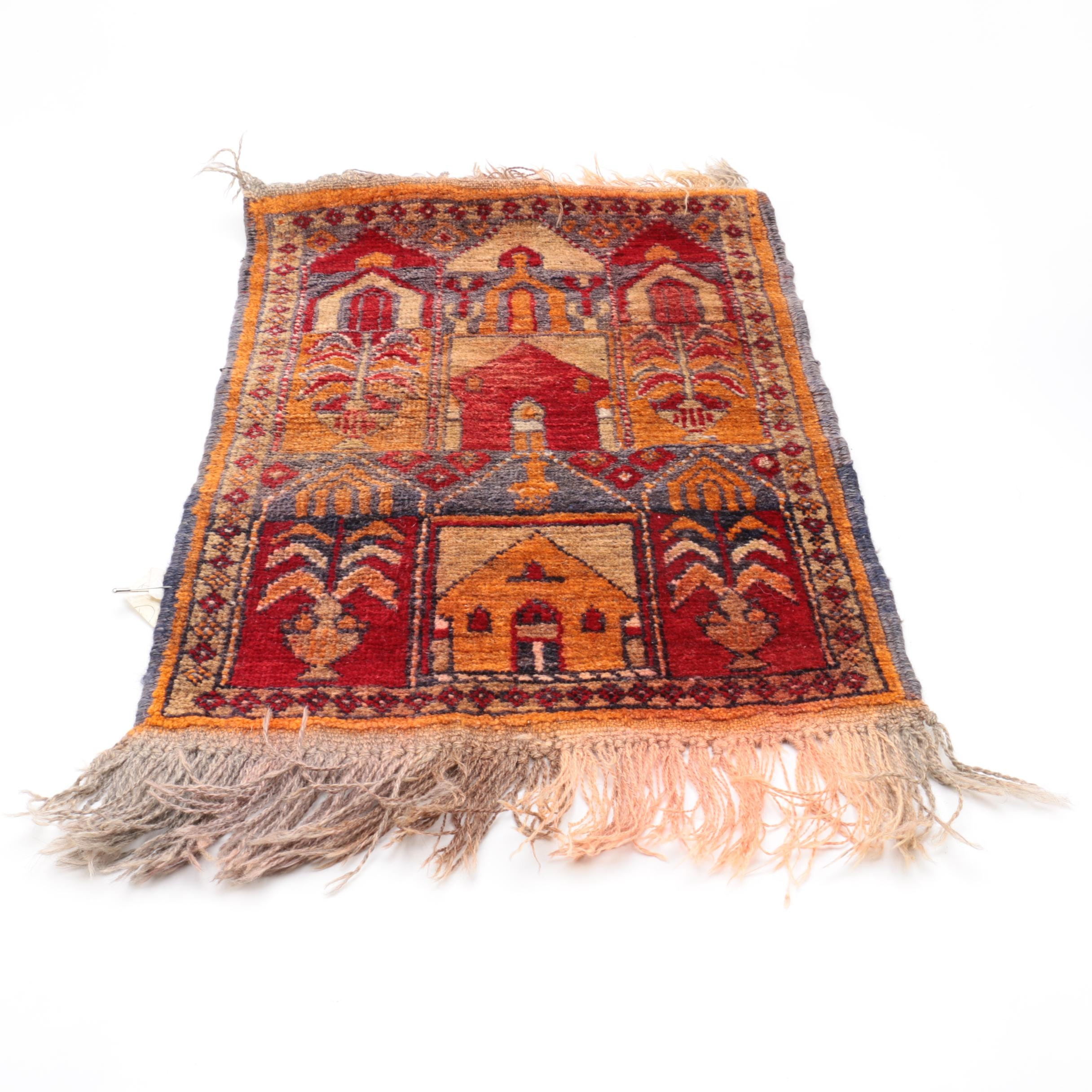 Hand-Knotted Anatolian Goat Hair Prayer Rug