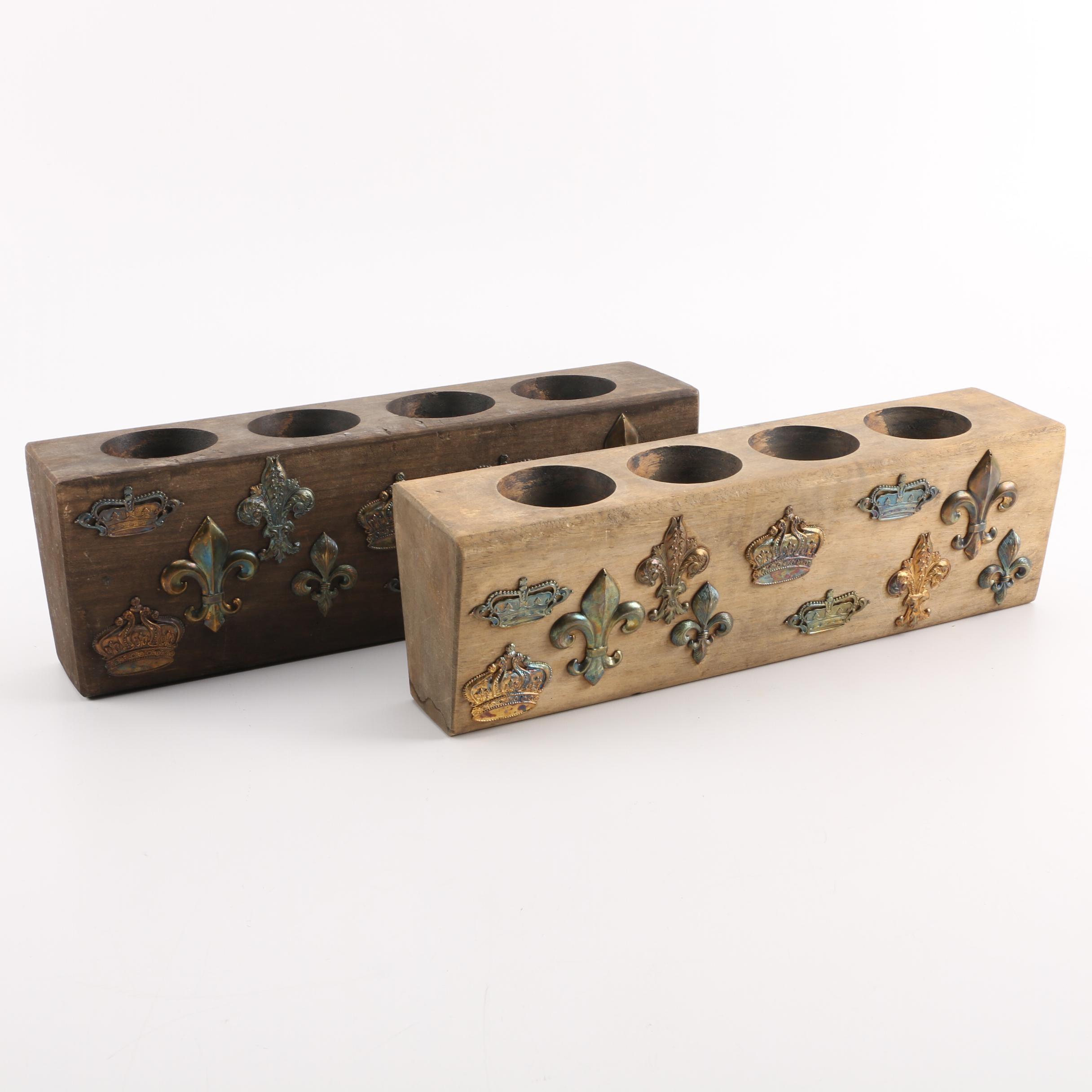 Vintage Wooden Sugar Molds