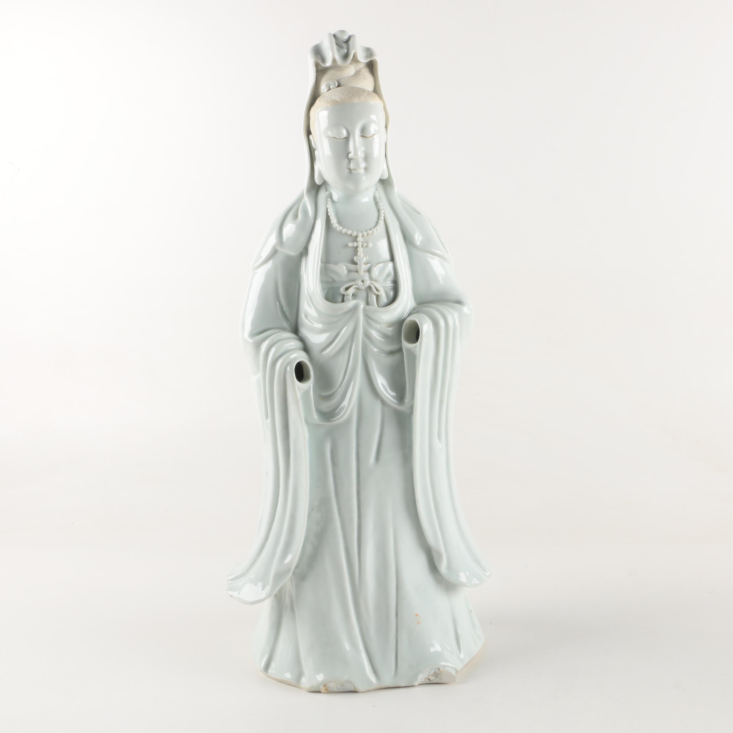 Chinese Porcelain Guanyin Figurine