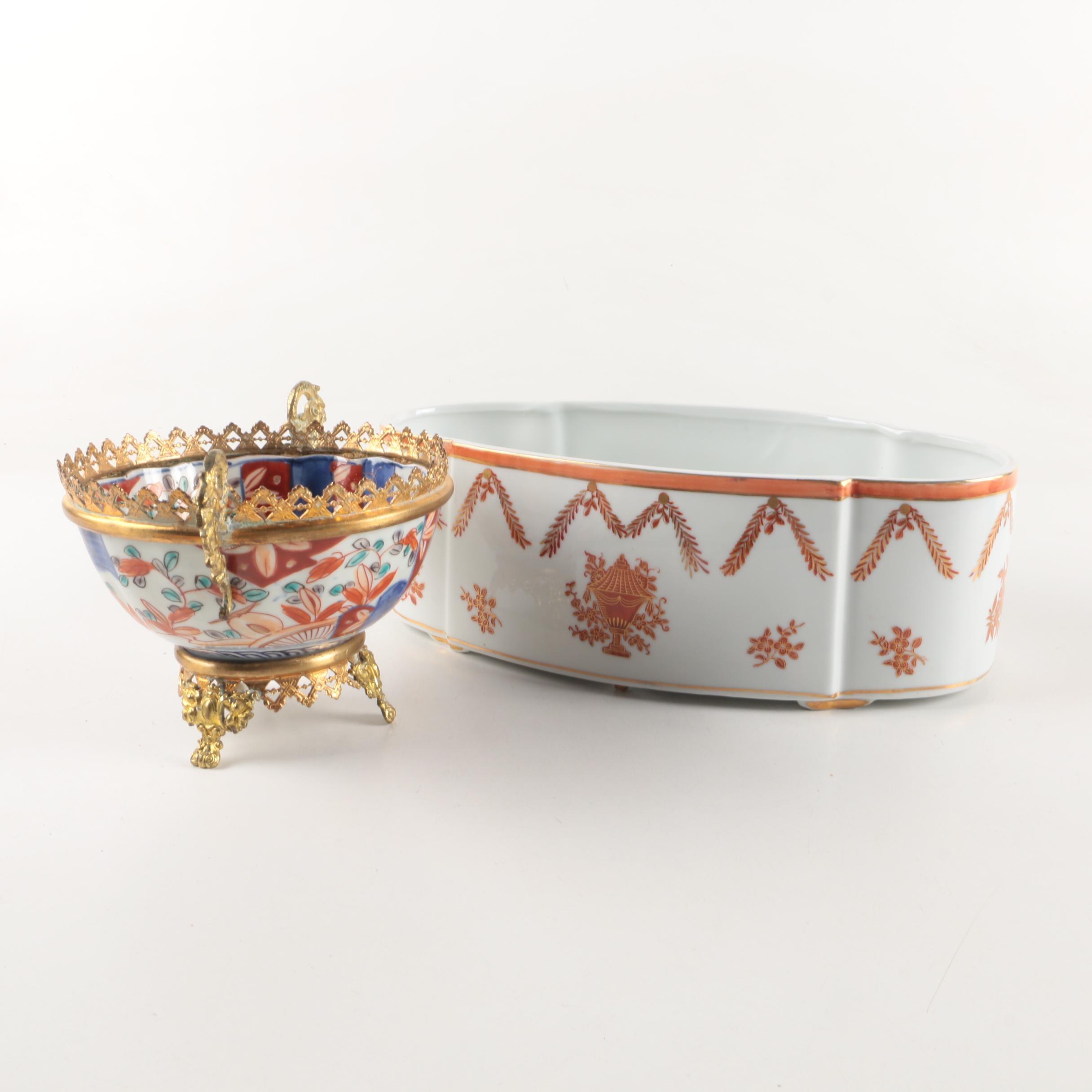 Asian Inspired Porcelain Bowls