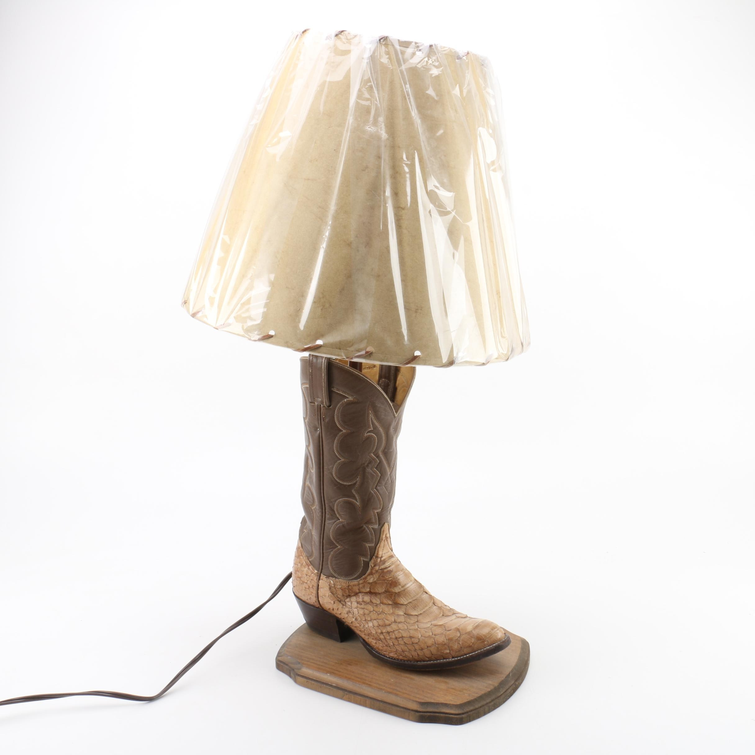 """""""Give Em The Boot"""" Table Lamp"""