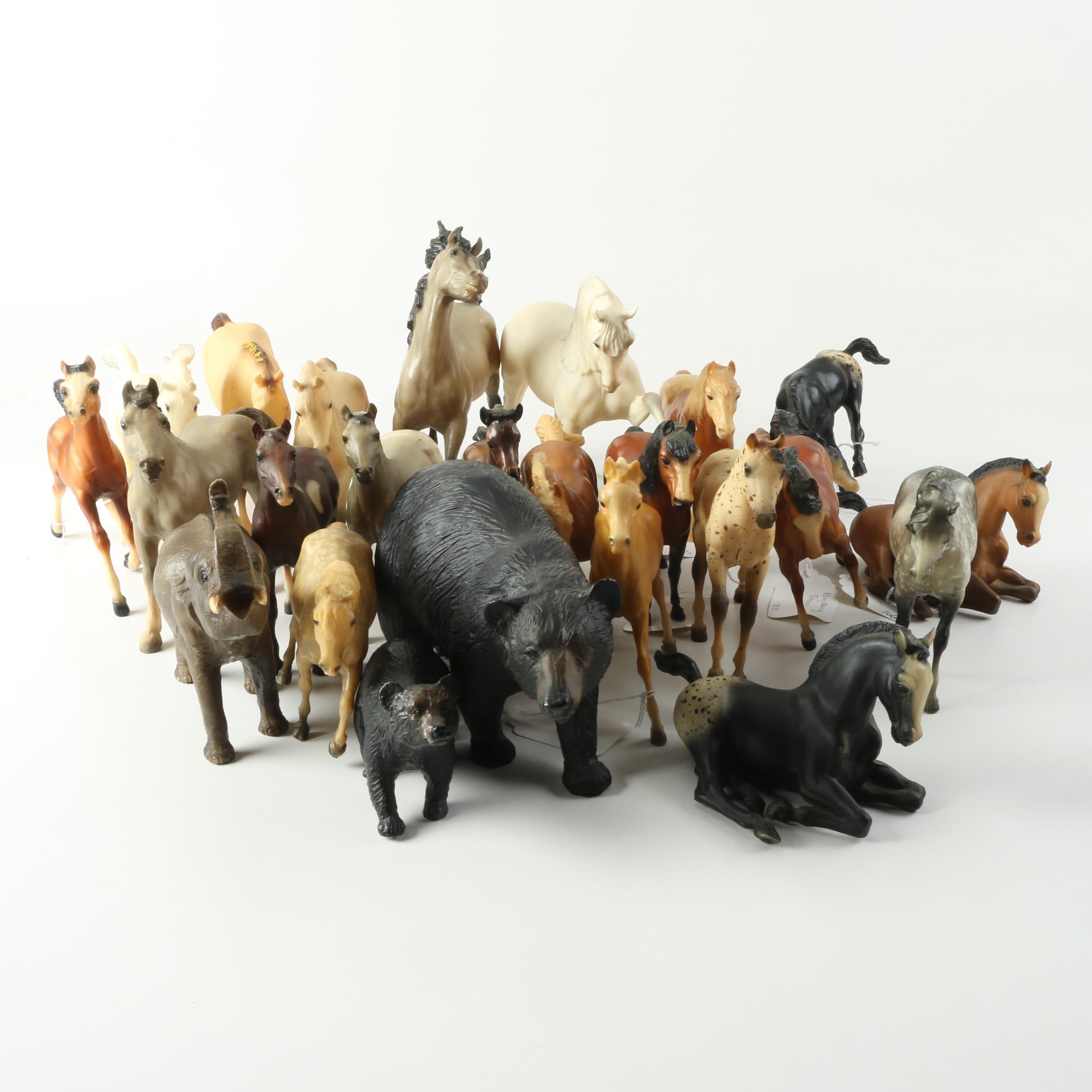 Horse, Bear and Elephant Figurines