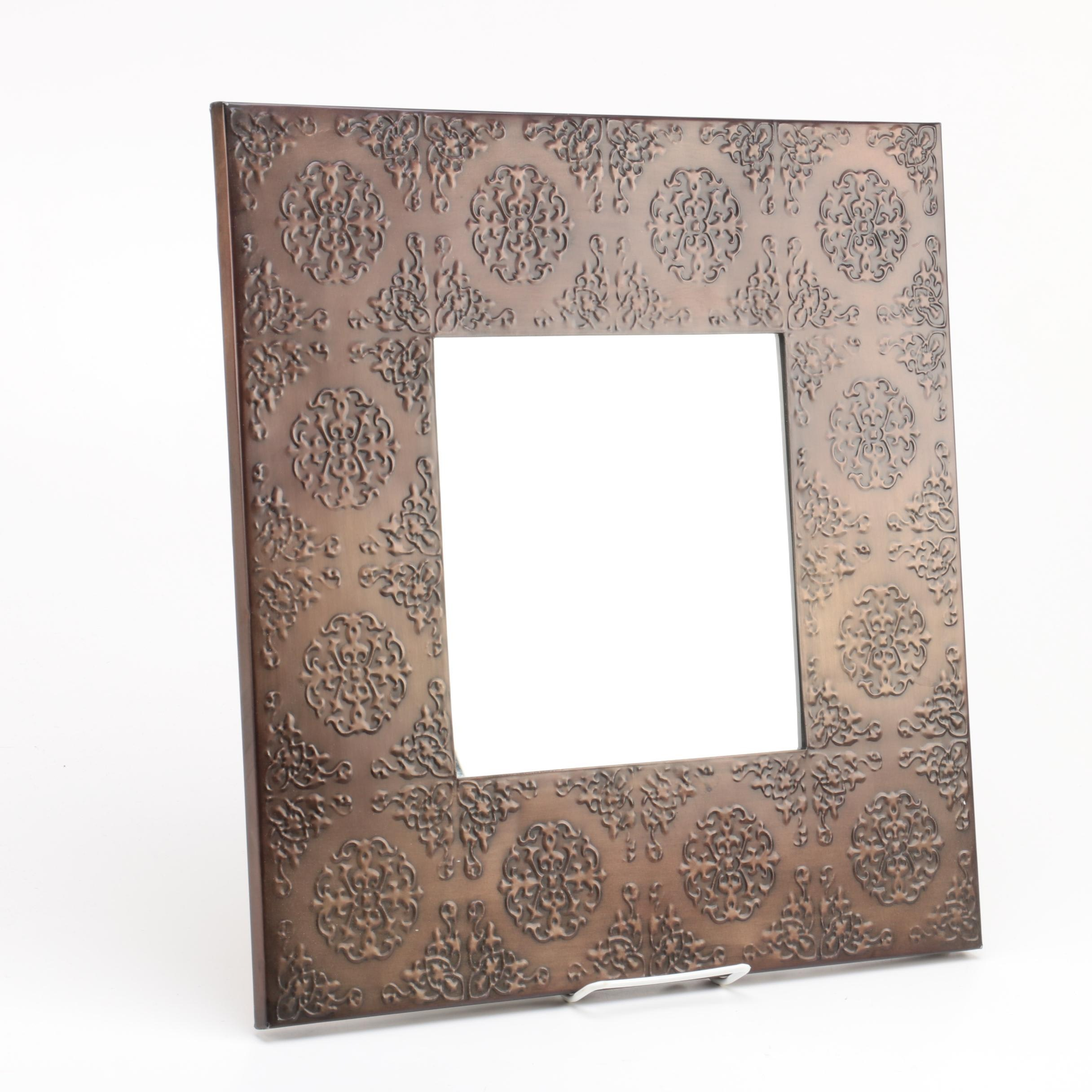 Stamped Tin Framed Wall Mirror