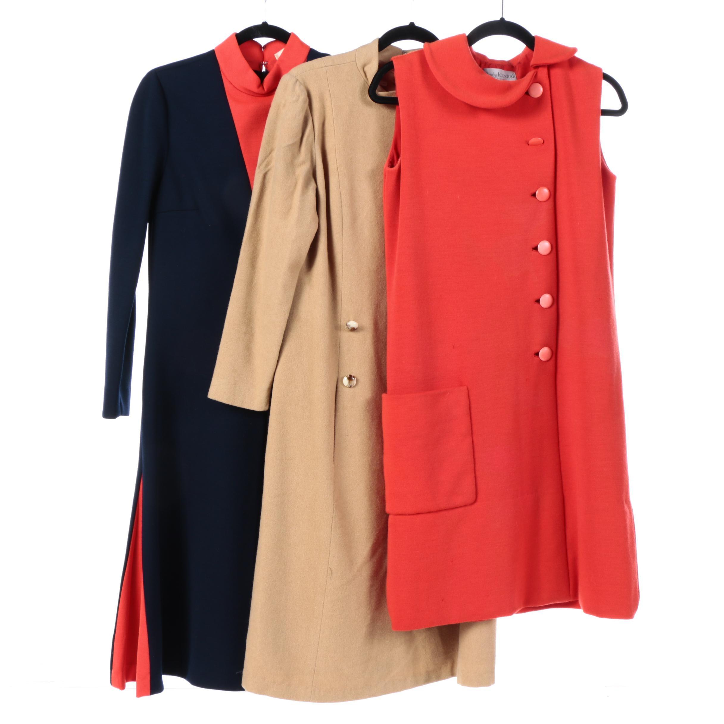 1960s Vintage Knit Dresses Including Lillie Rubin, Stanley Korshak, Donle