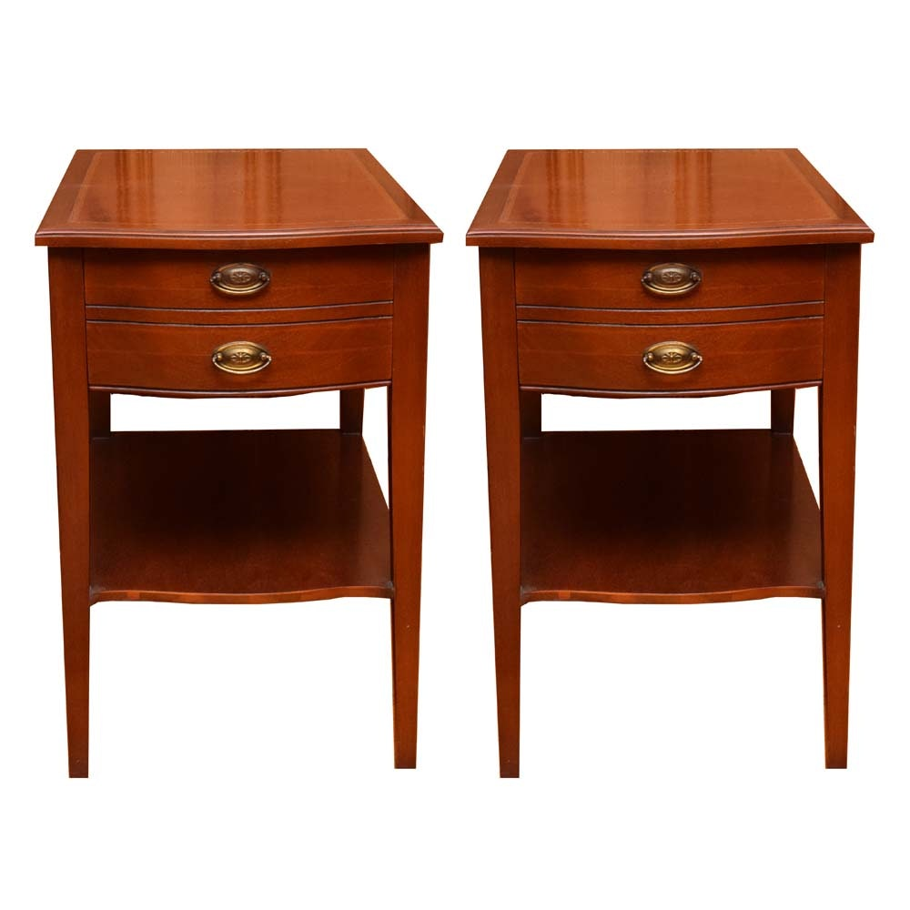 Leather Topped End Tables