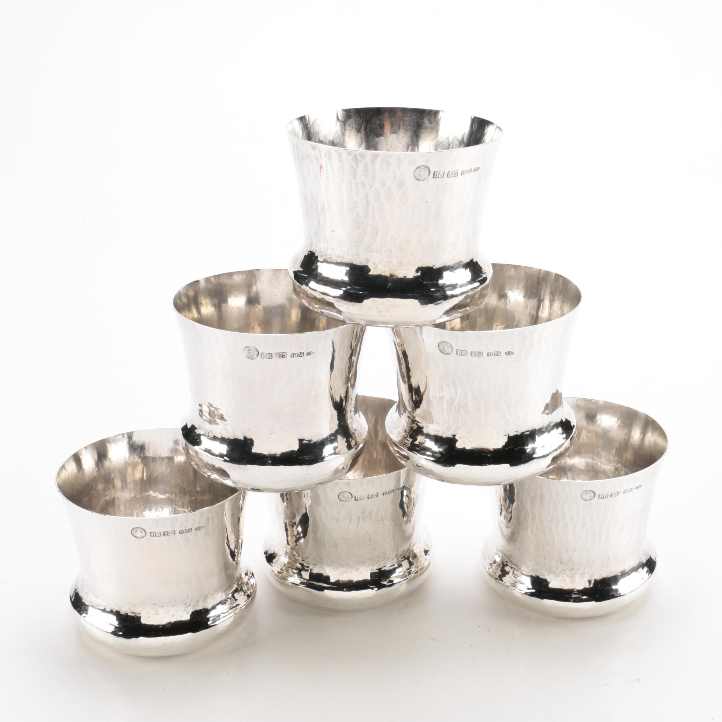 1974 Brandimarte SRL Sterling Silver Dram Cups