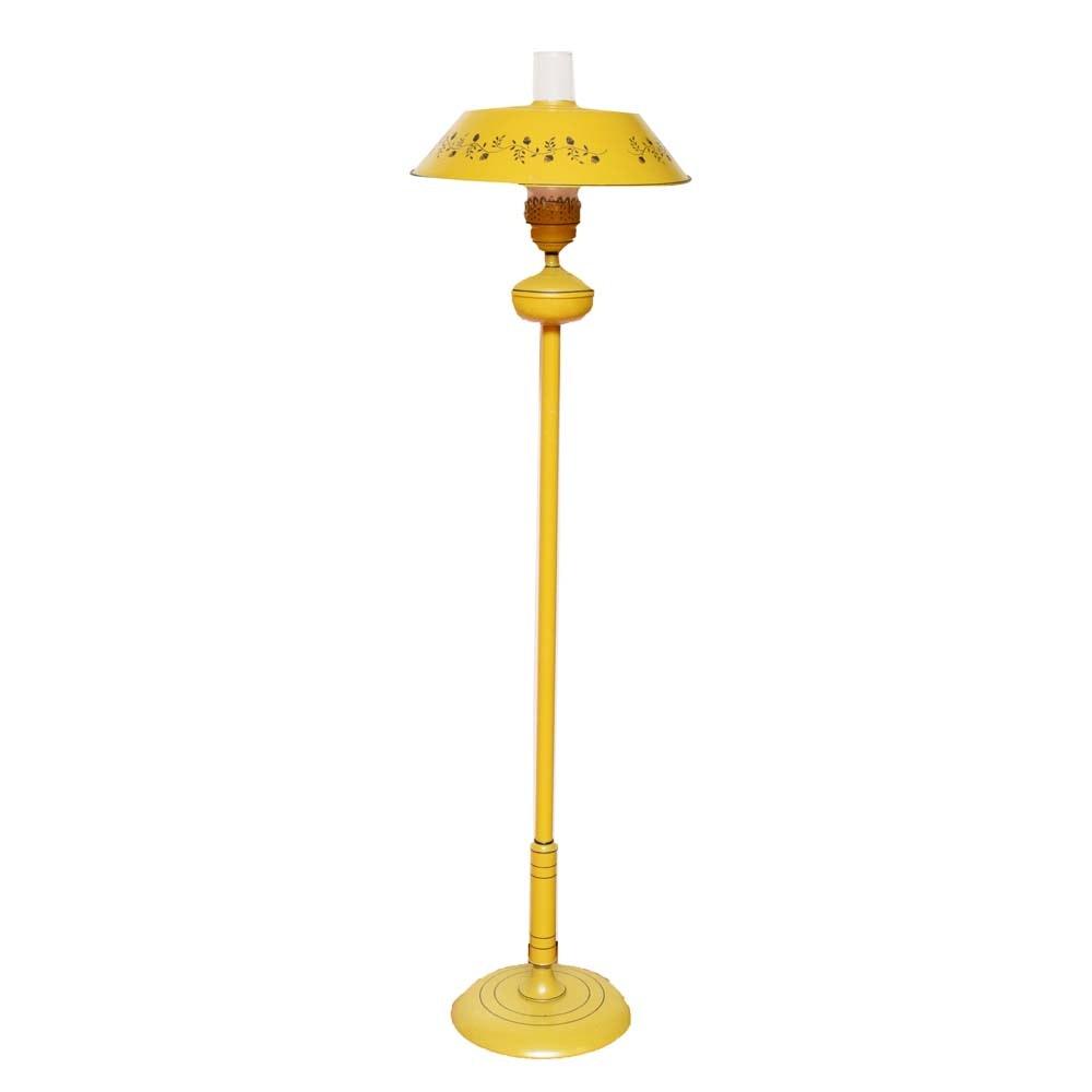 Vintage Enamel Floor Lamp
