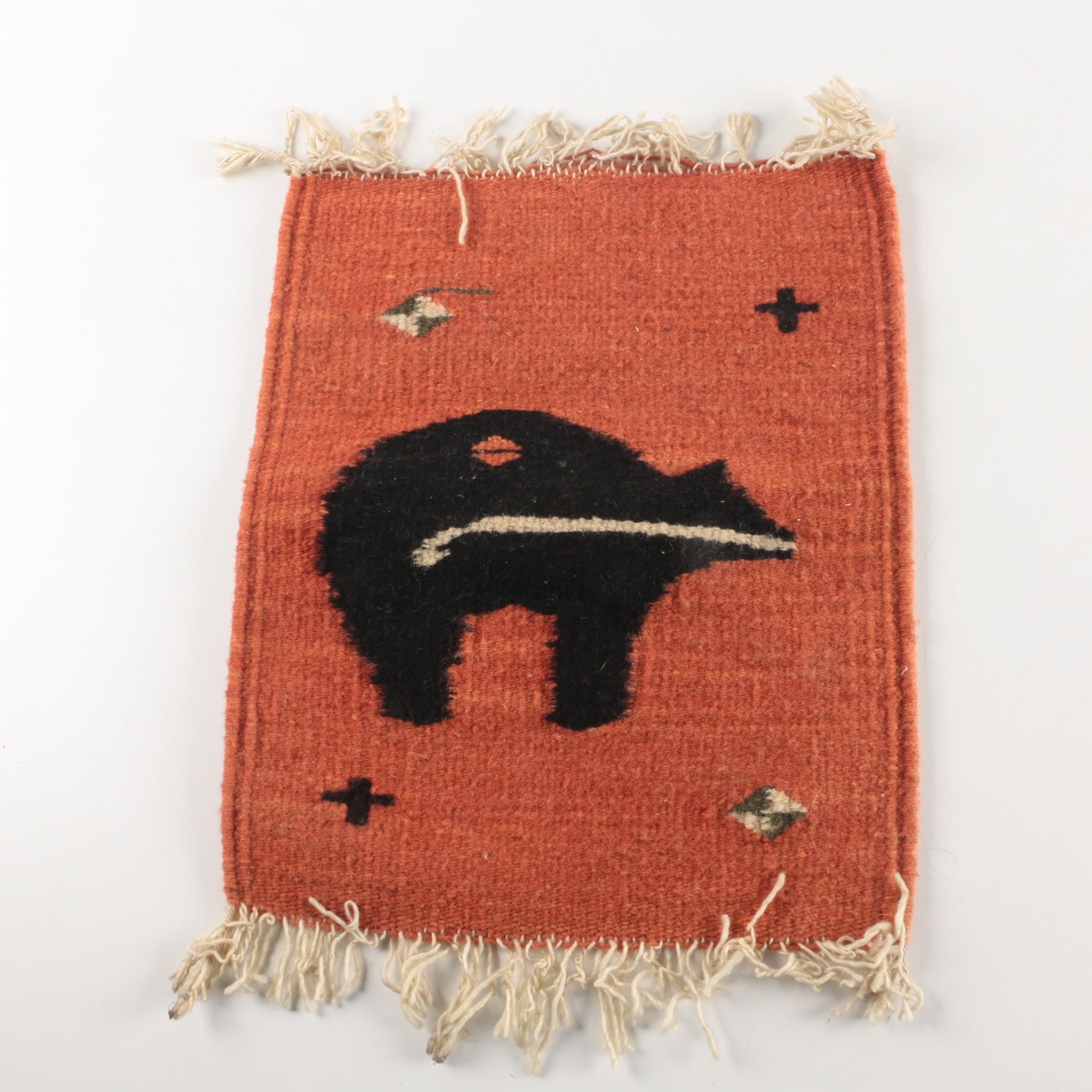 Hand Woven Marisol Imports Mexican Wool Rug Tapestry