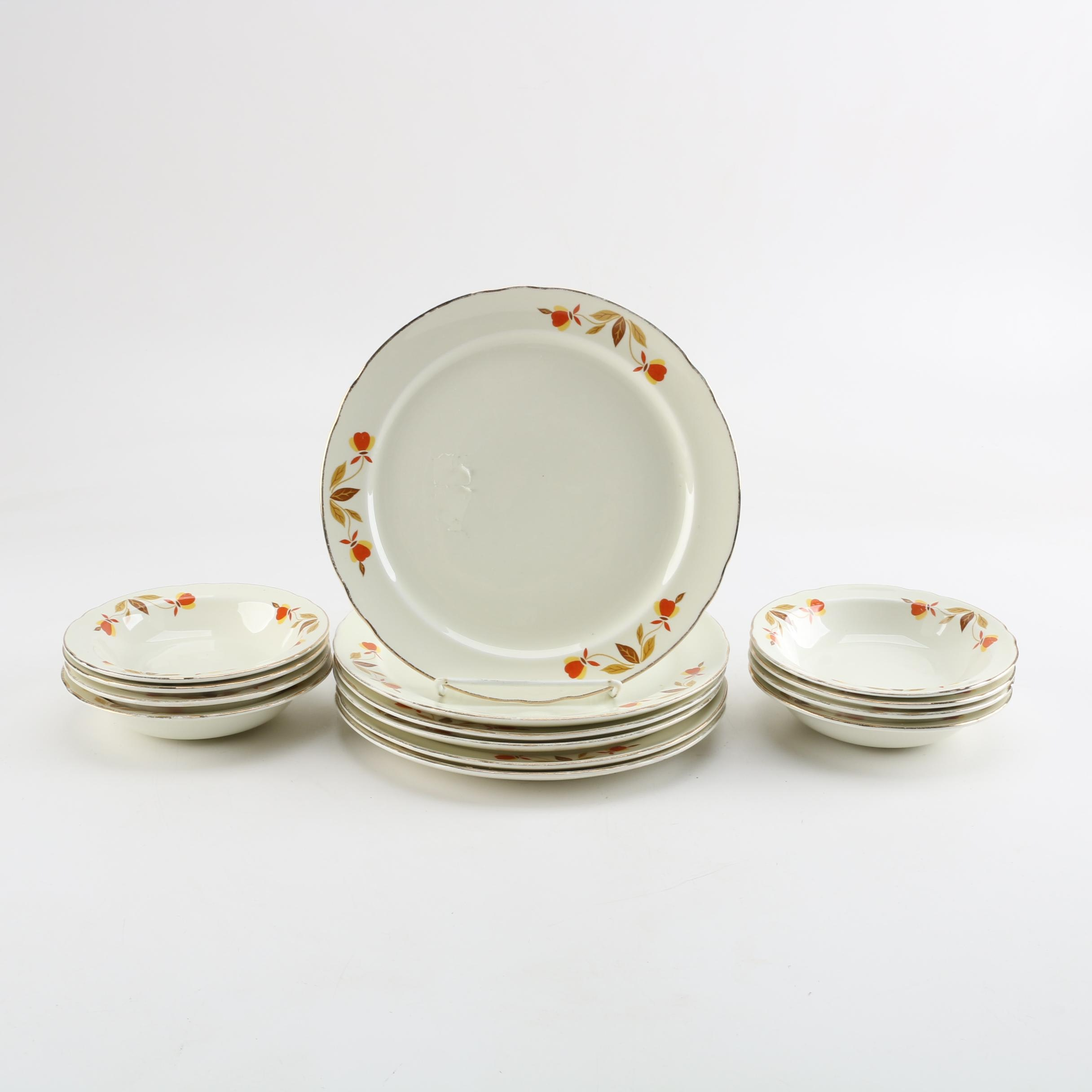 "Hall ""Autumn Leaf"" Tableware"