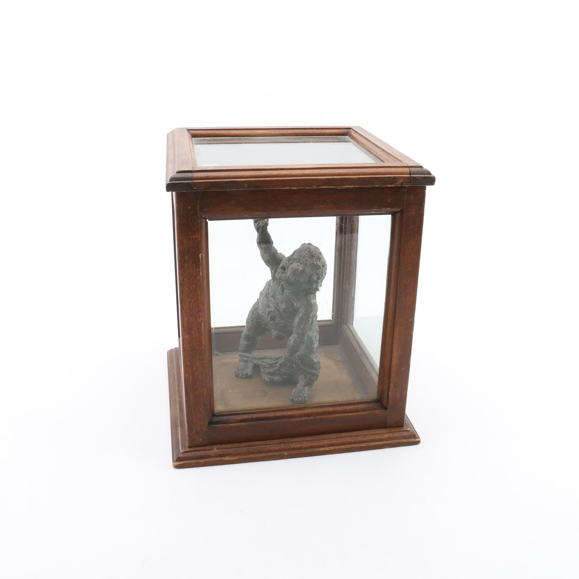 Ceramic Sculpture with Display Case