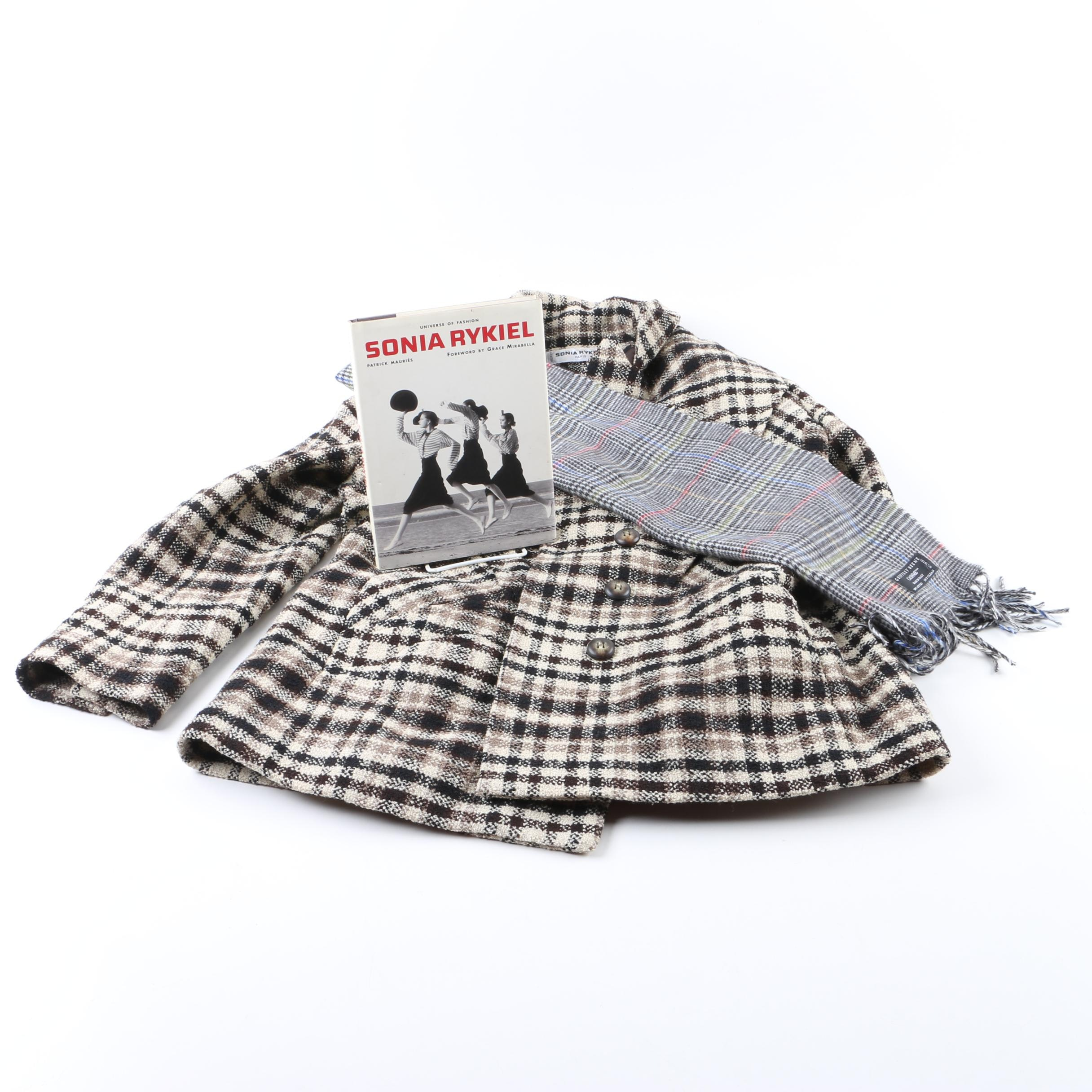 Sonia Rykiel of Paris Coat and Coffee Table Book with Geoffrey Beene Scarf